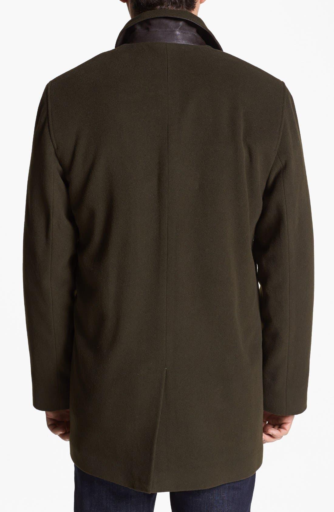 Italian Wool Blend Overcoat,                             Alternate thumbnail 9, color,