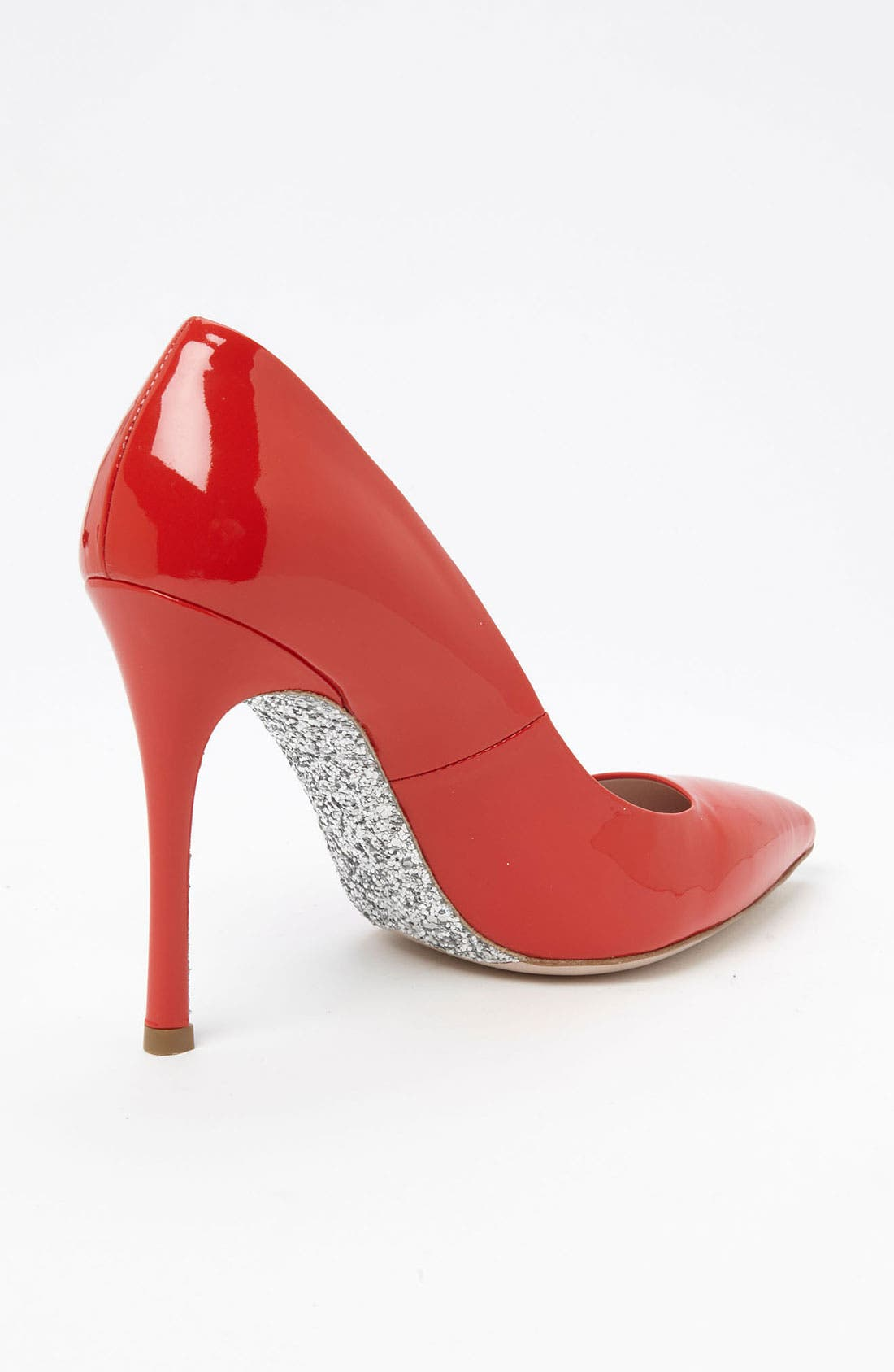 Glitter Sole Pointy Toe Pump,                             Alternate thumbnail 8, color,