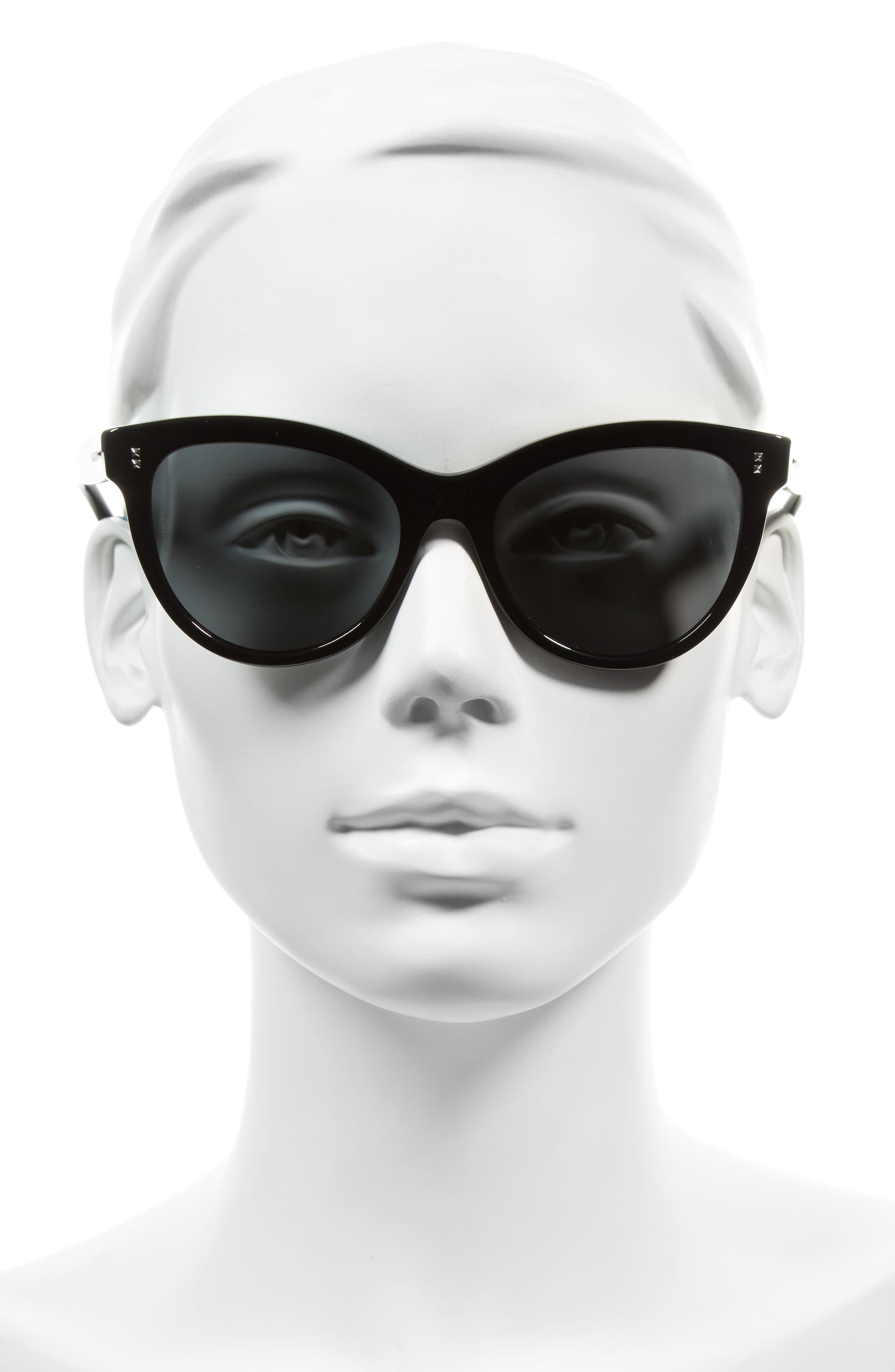 54mm Cat Eye Sunglasses,                             Alternate thumbnail 2, color,                             001