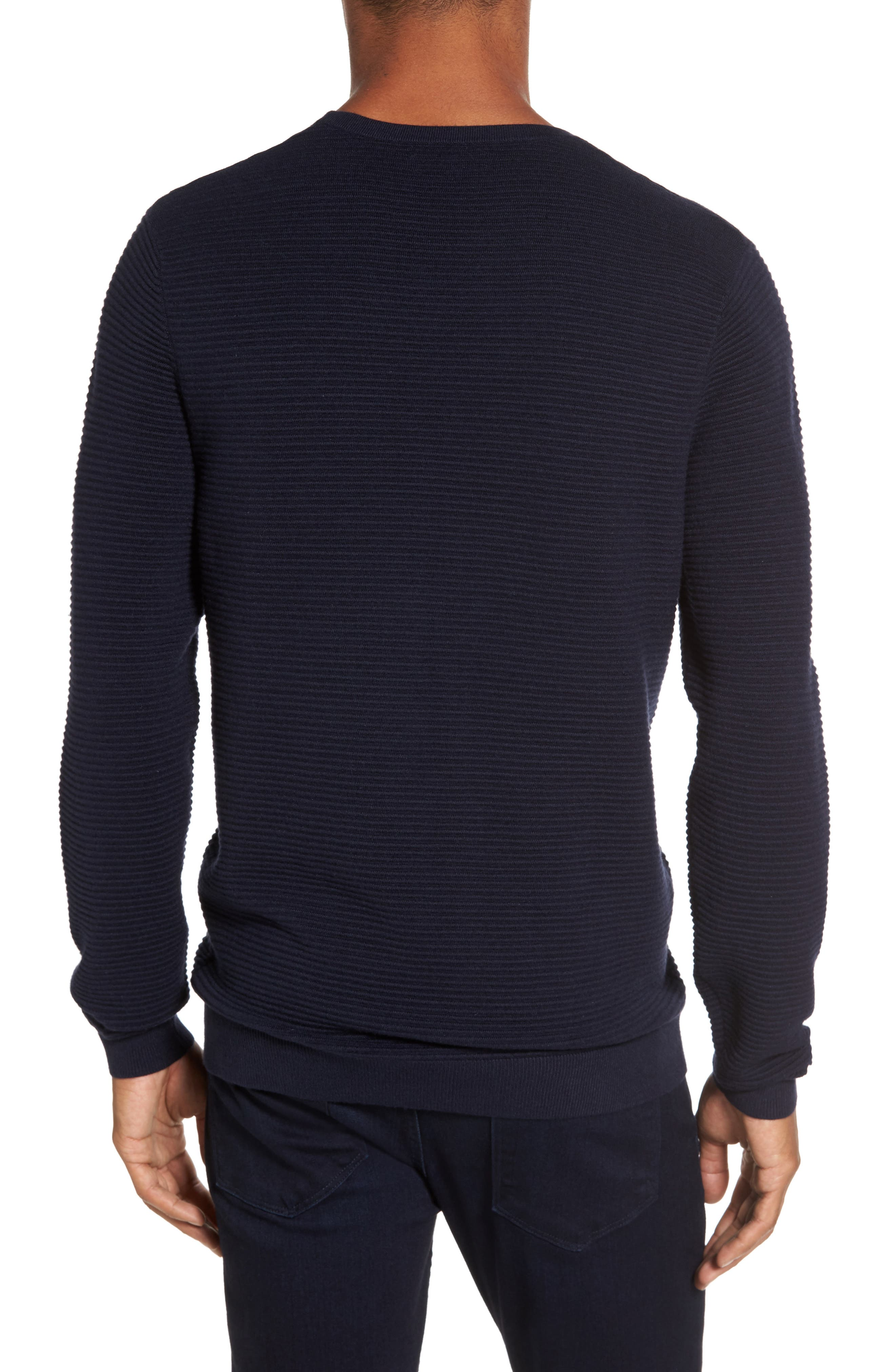 Ottoman Ribbed Crewneck Sweater,                             Alternate thumbnail 5, color,