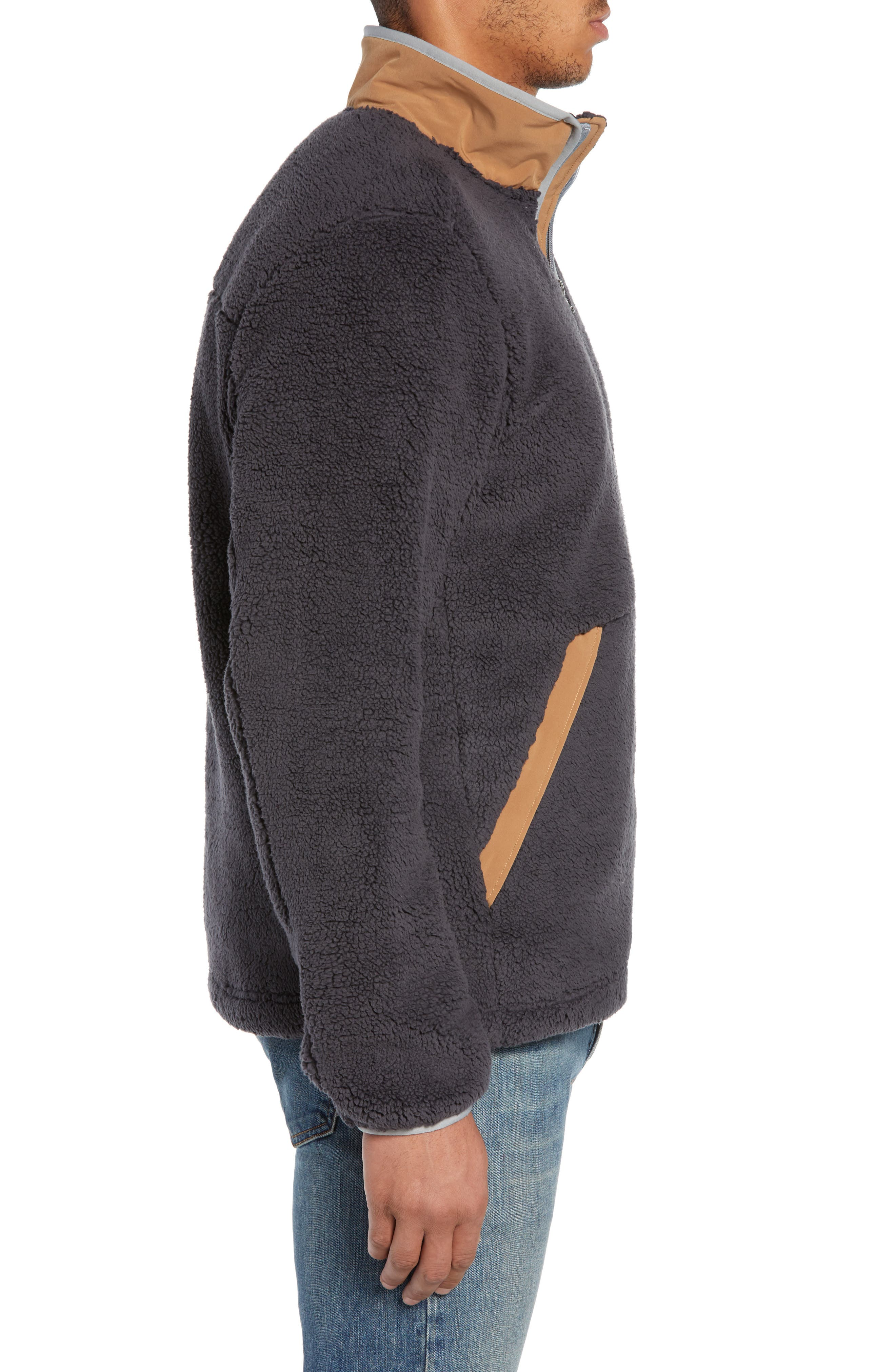THE NORTH FACE,                             Campshire Pullover Fleece Jacket,                             Alternate thumbnail 4, color,                             001