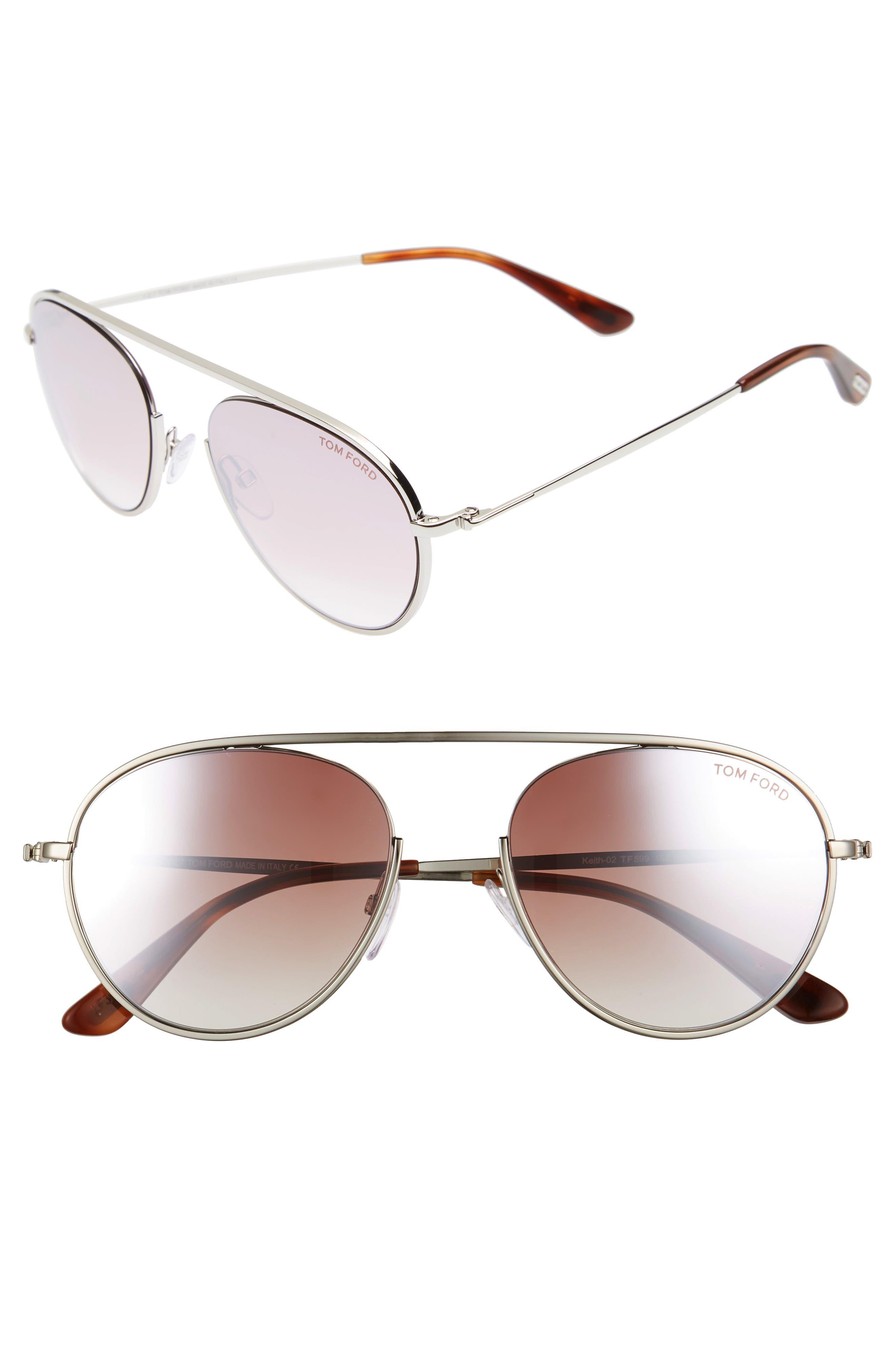 Keith 55mm Metal Aviator Sunglasses,                         Main,                         color, 040