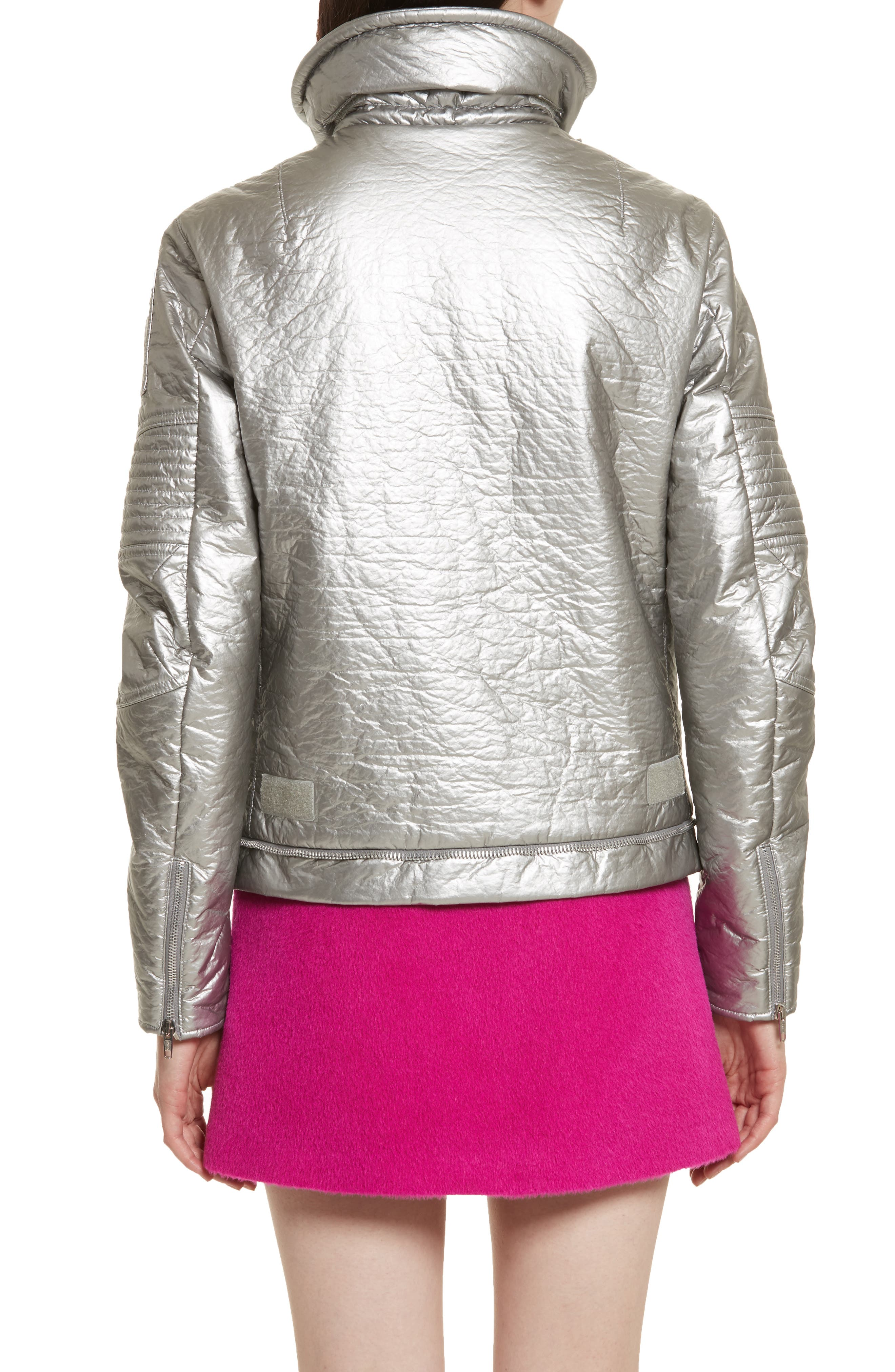Re-Edition Astro Moto Jacket,                             Alternate thumbnail 2, color,                             SILVER