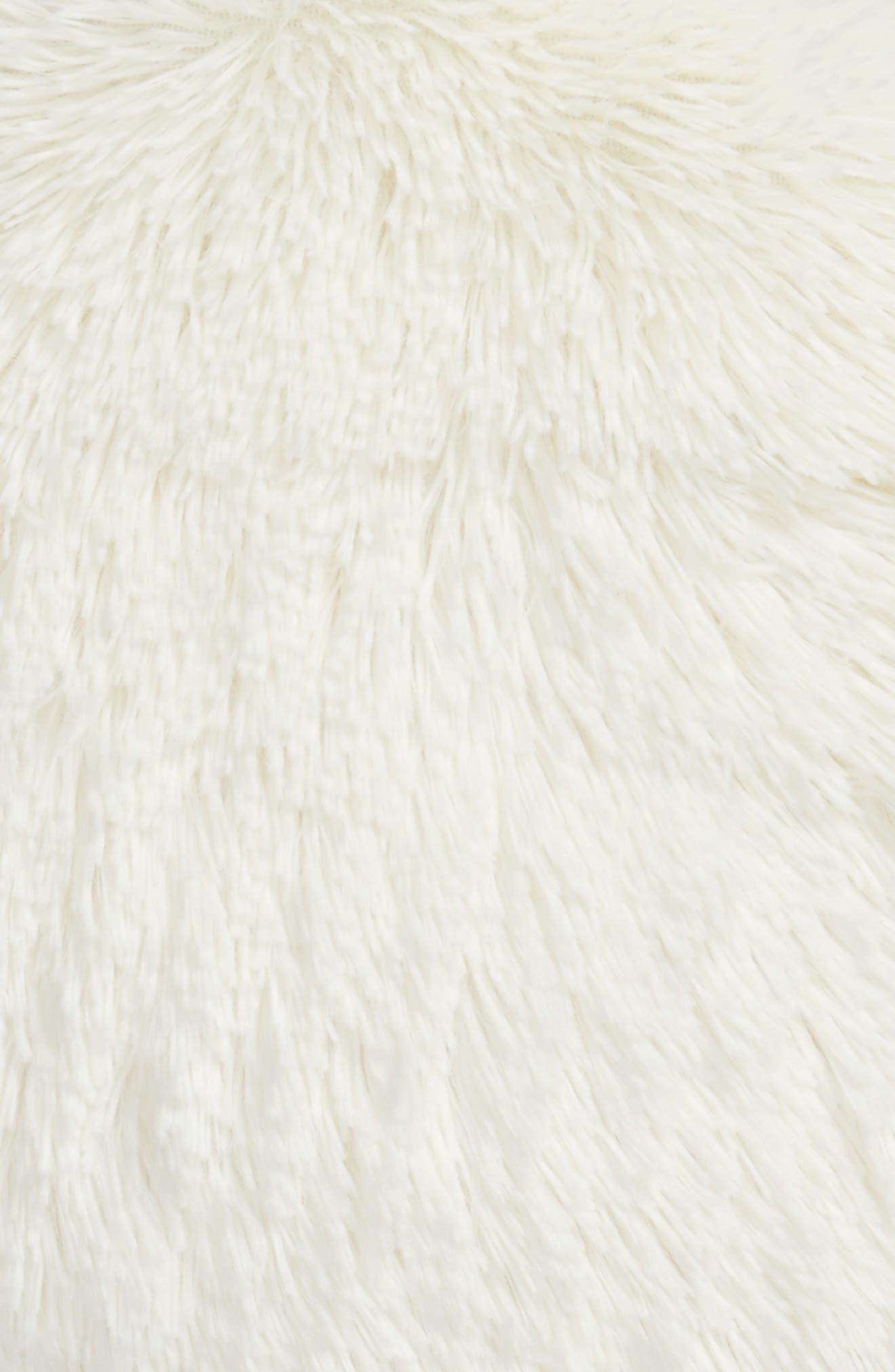 Feather Faux Fur Pillow,                             Alternate thumbnail 24, color,