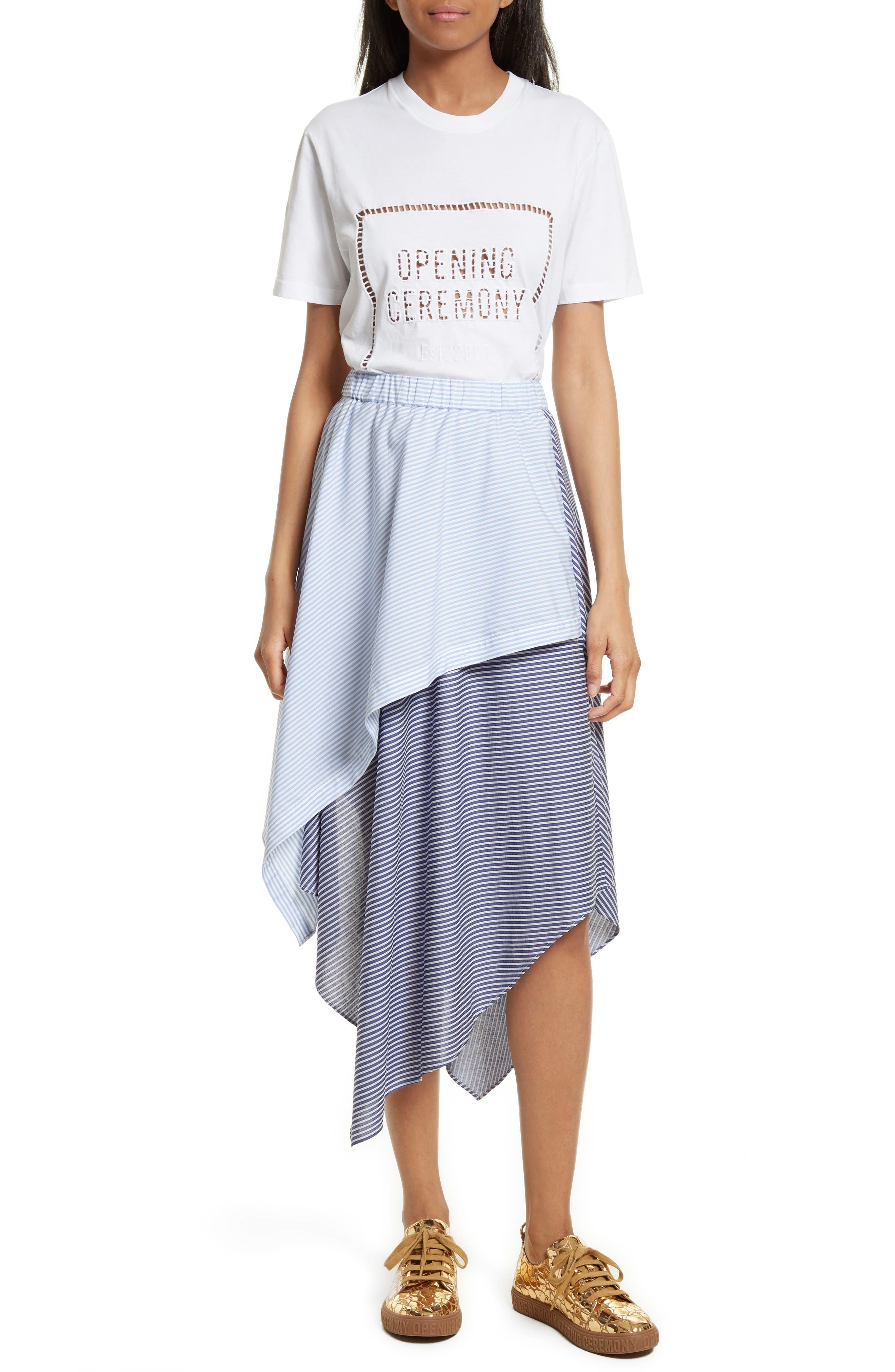 Cody Stripe Asymmetrical Skirt,                             Alternate thumbnail 6, color,