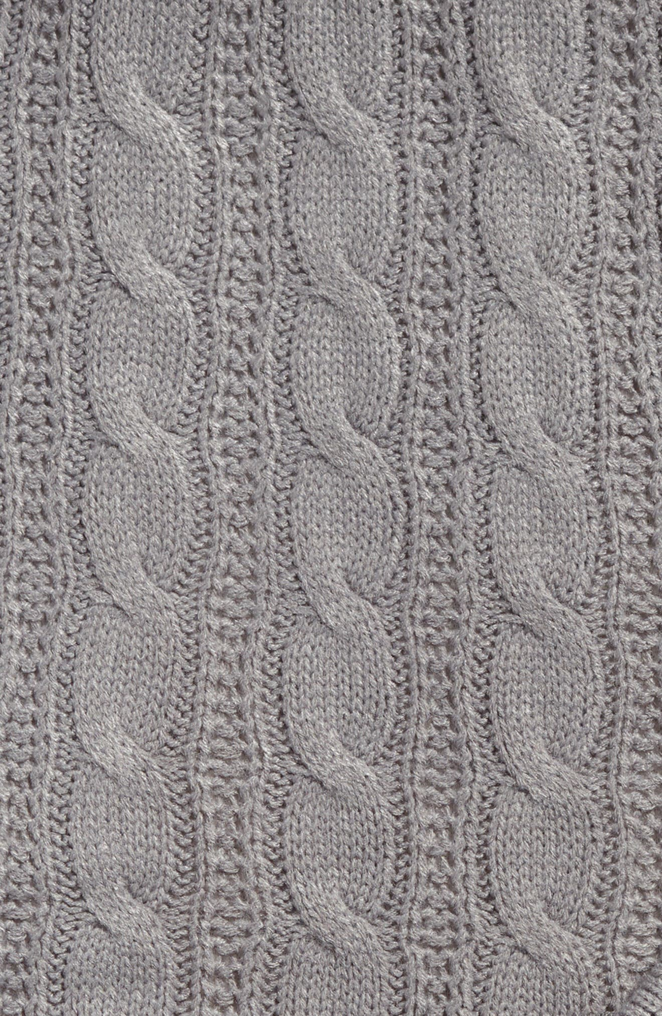 Cable Knit Throw Blanket,                             Alternate thumbnail 2, color,                             020