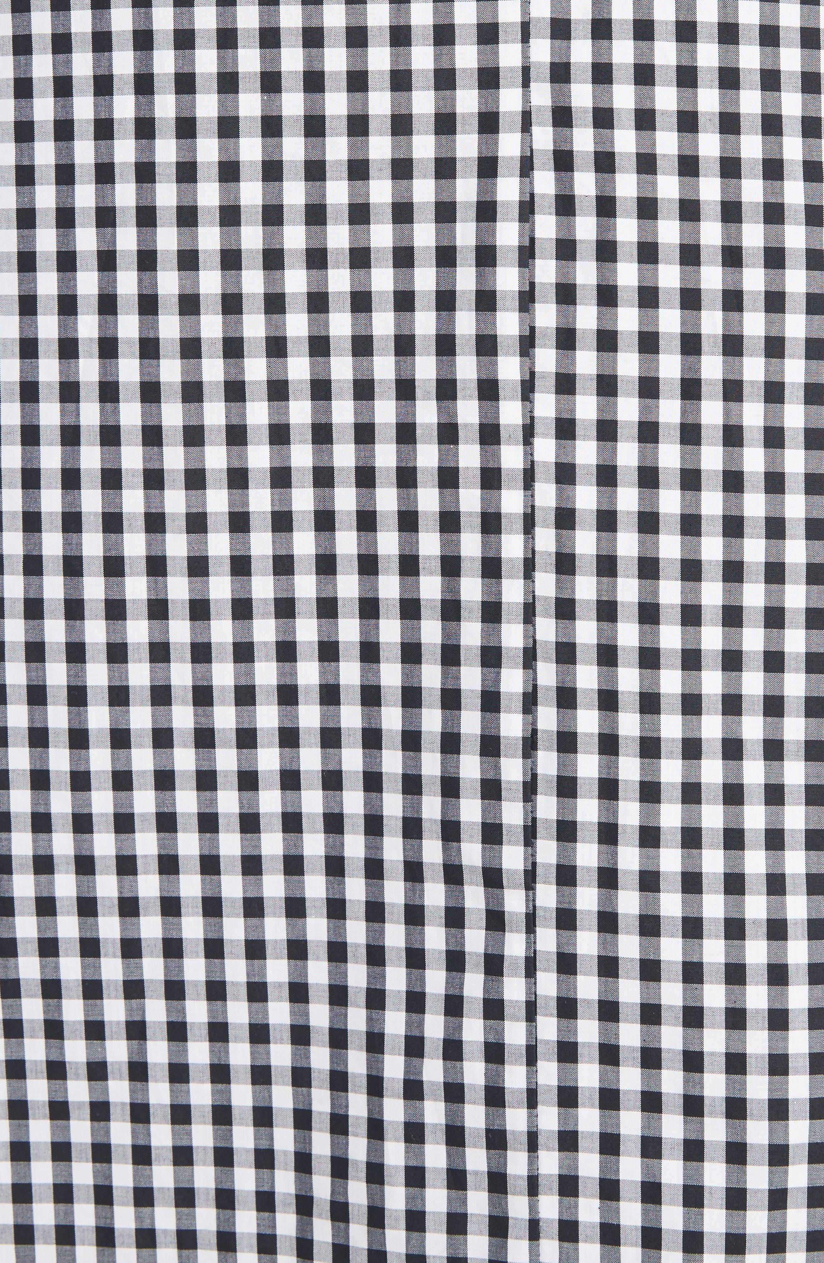 Three-Panel Gingham Midi Skirt,                             Alternate thumbnail 5, color,                             100