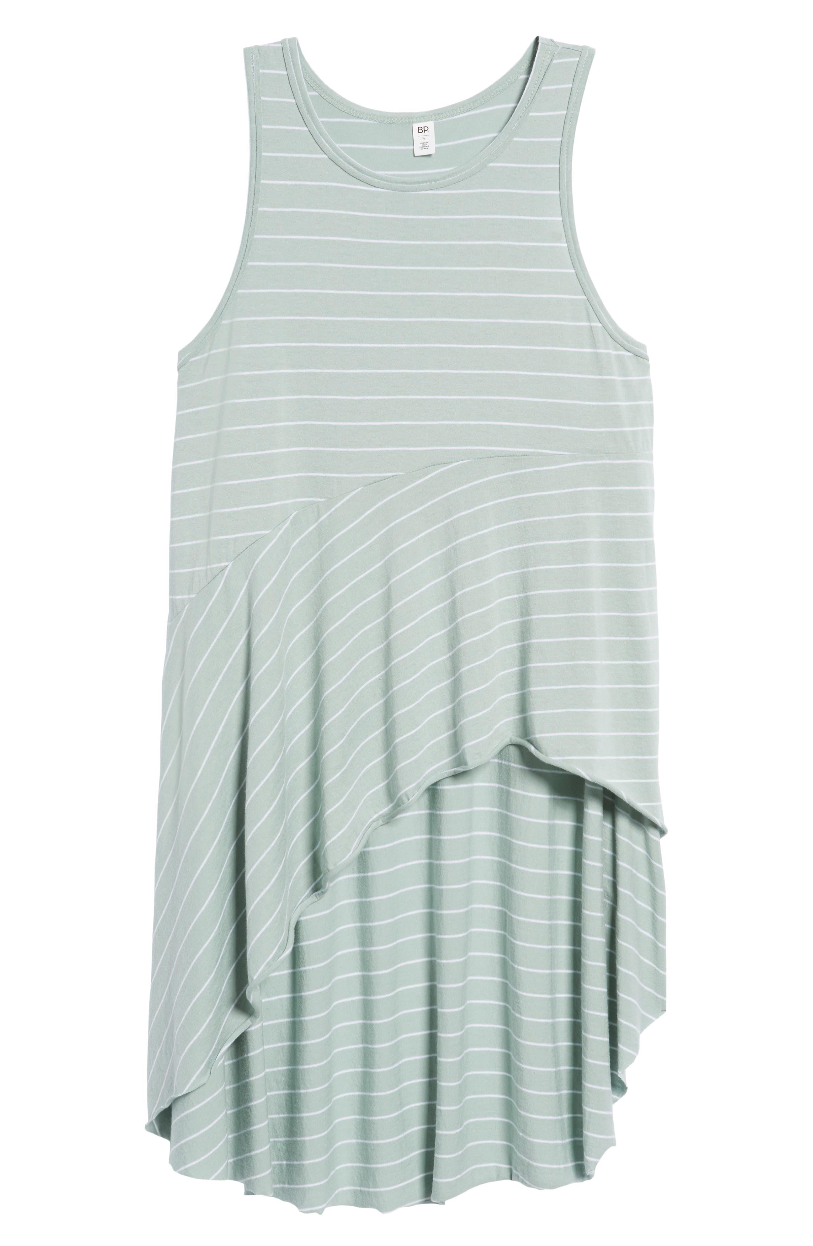 Stripe Asymmetrical Hem Tank,                             Alternate thumbnail 6, color,                             445