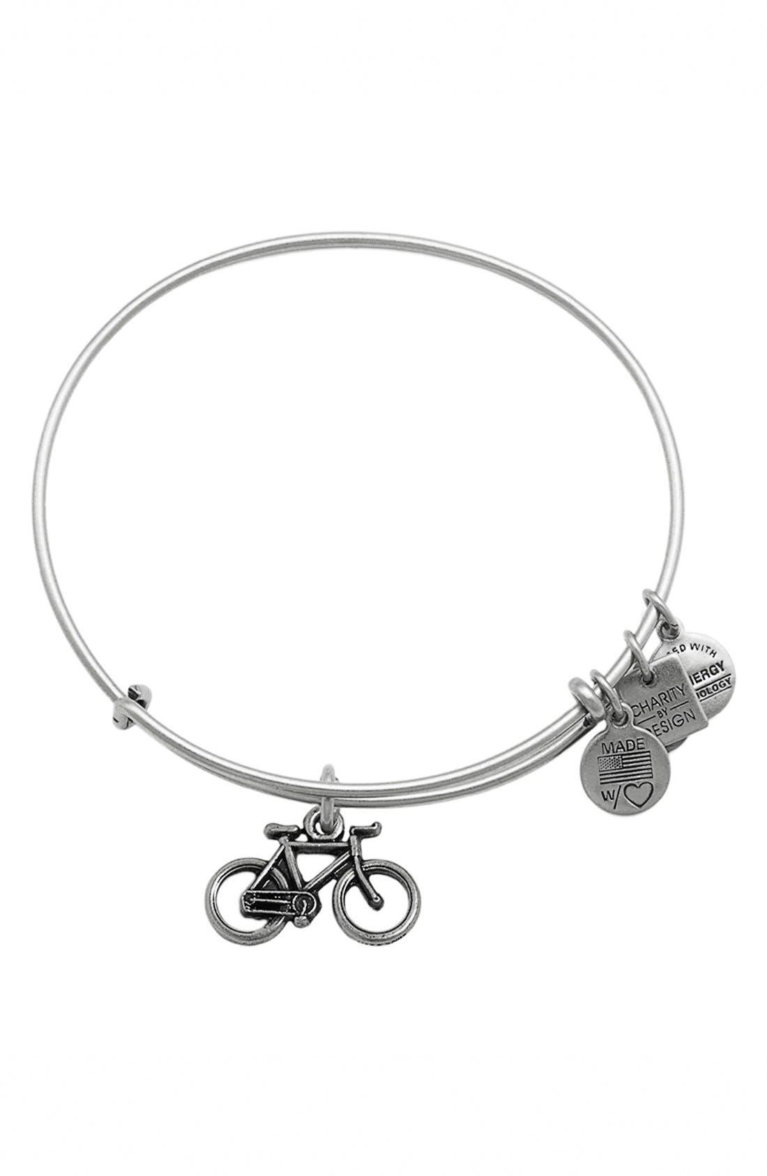 Bike Expandable Wire Bangle, Main, color, 040