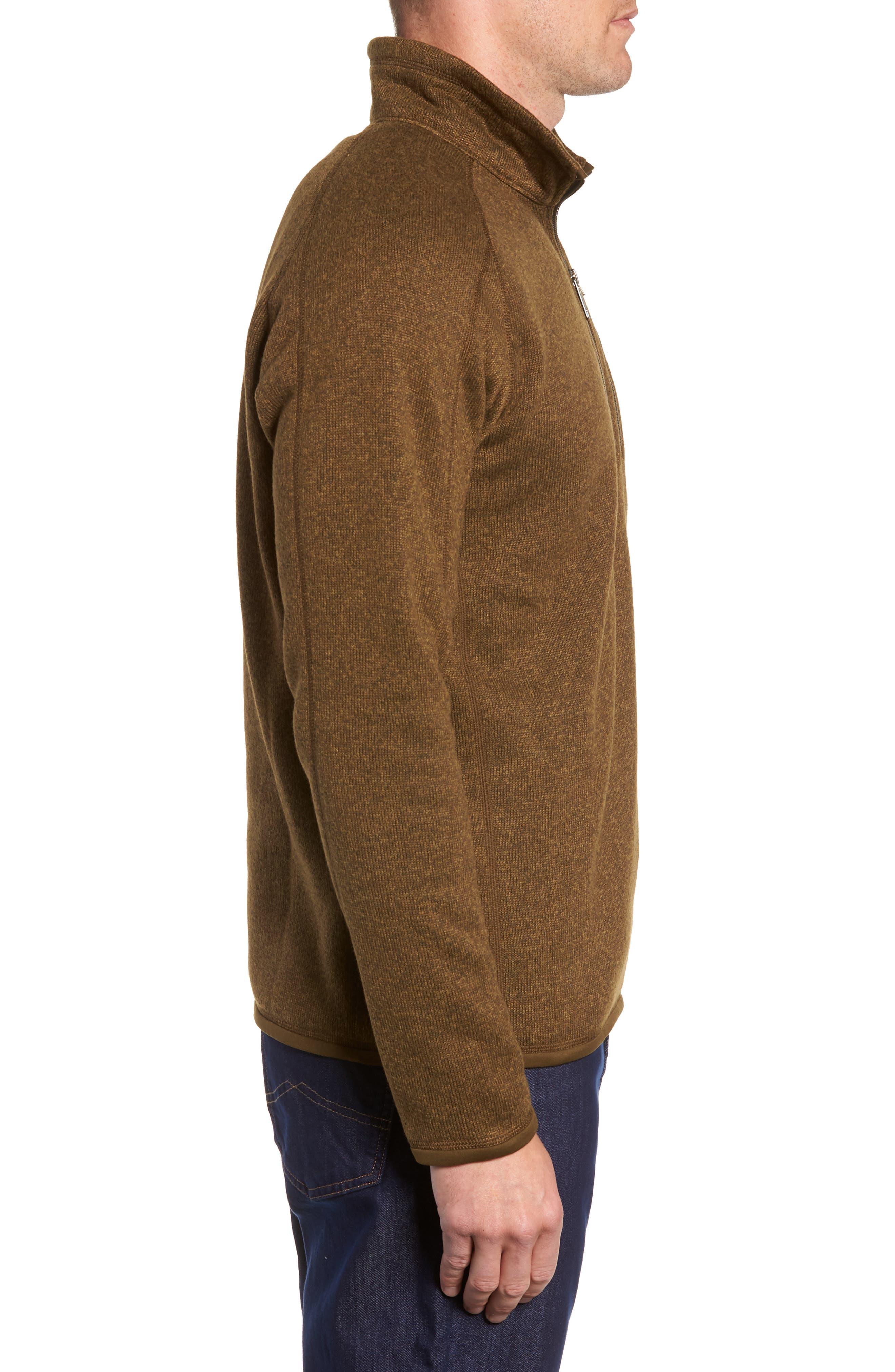 'Better Sweater' Quarter Zip Pullover,                             Alternate thumbnail 3, color,                             SEDIMENT