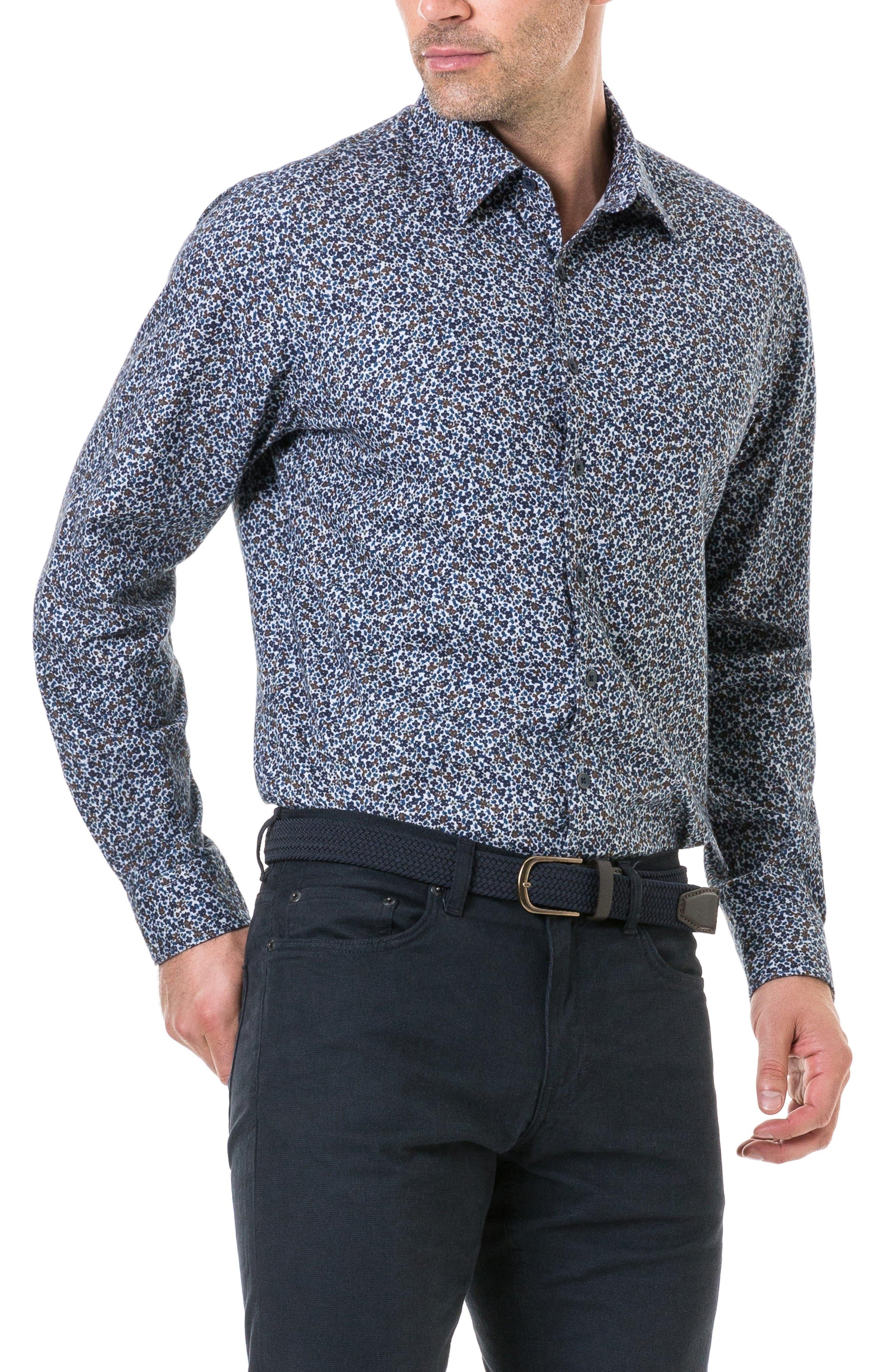Freys Crescent Regular Fit Flannel Sport Shirt,                             Alternate thumbnail 4, color,                             BLUEBERRY