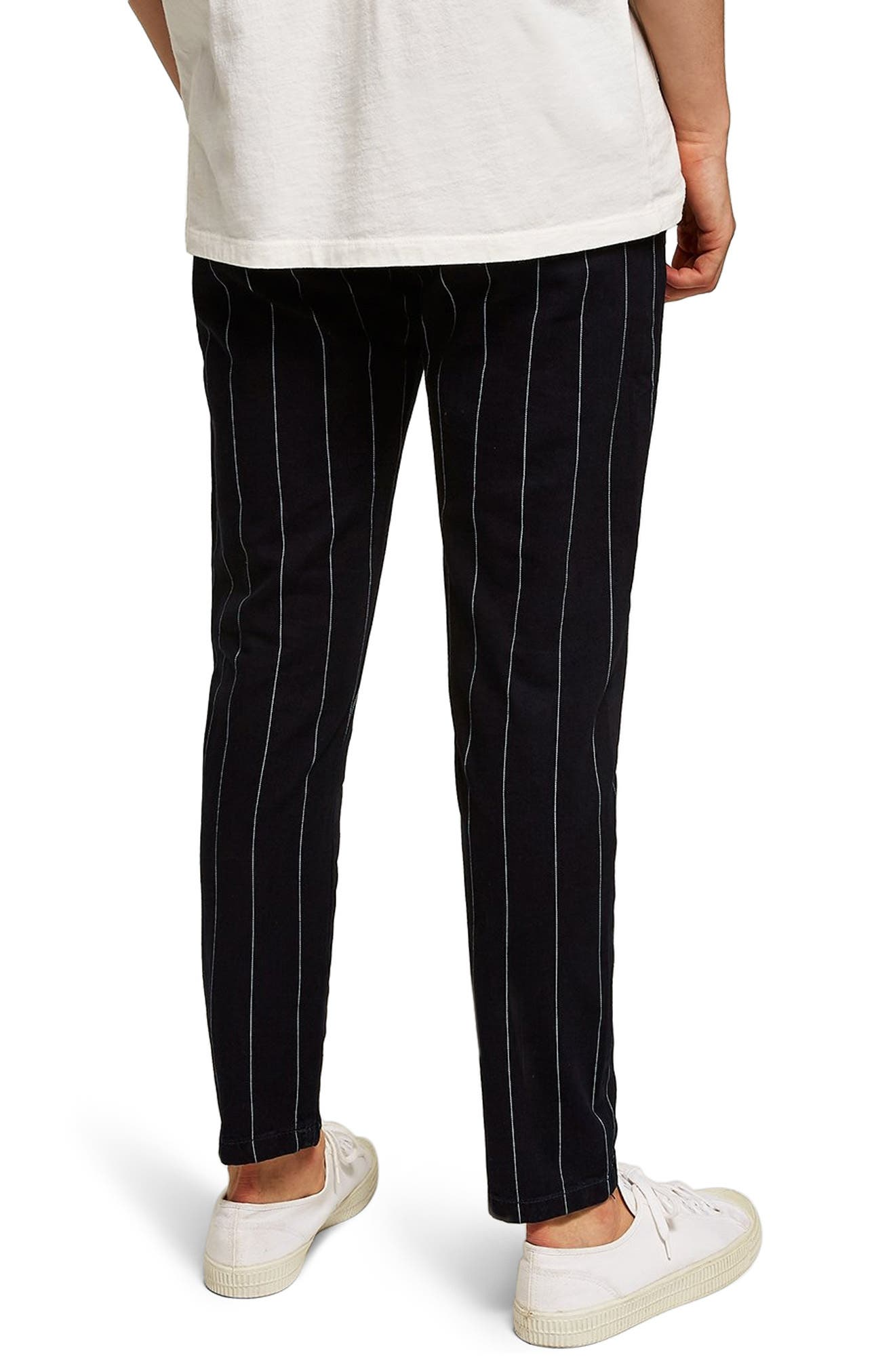 Pinstripe Skinny Trousers,                             Alternate thumbnail 2, color,                             411