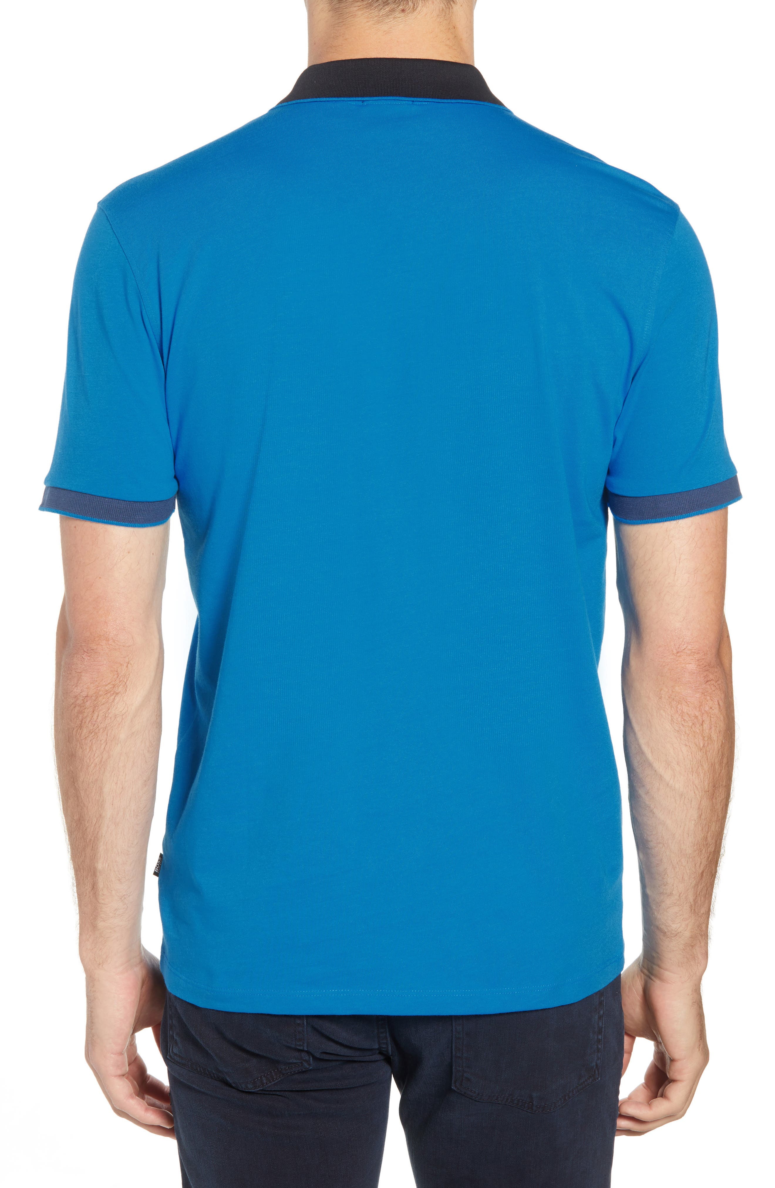 Parlay Regular Fit Contrast Polo,                             Alternate thumbnail 2, color,                             BLUE