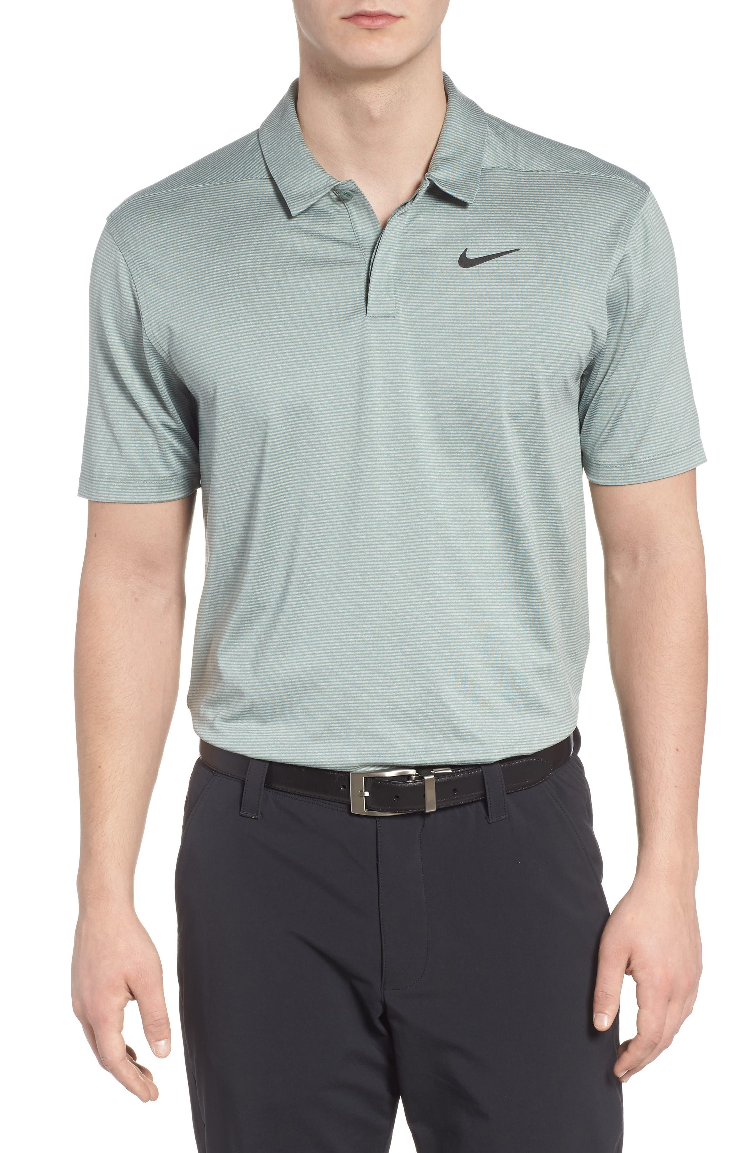 Dry Polo Shirt,                         Main,                         color, CLAY GREEN/ BLACK
