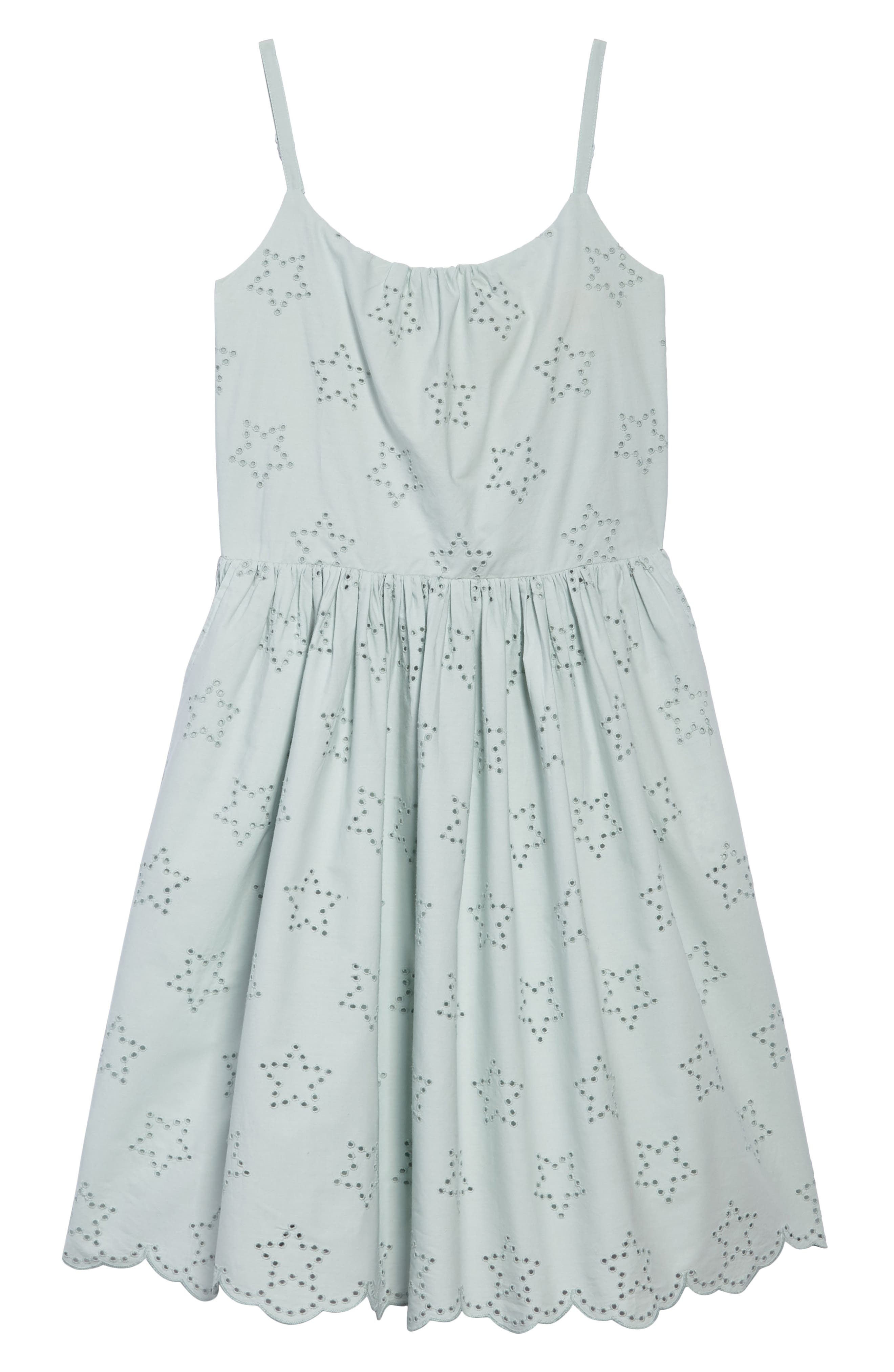 MINI BODEN Embroidered Star Sundress, Main, color, 454