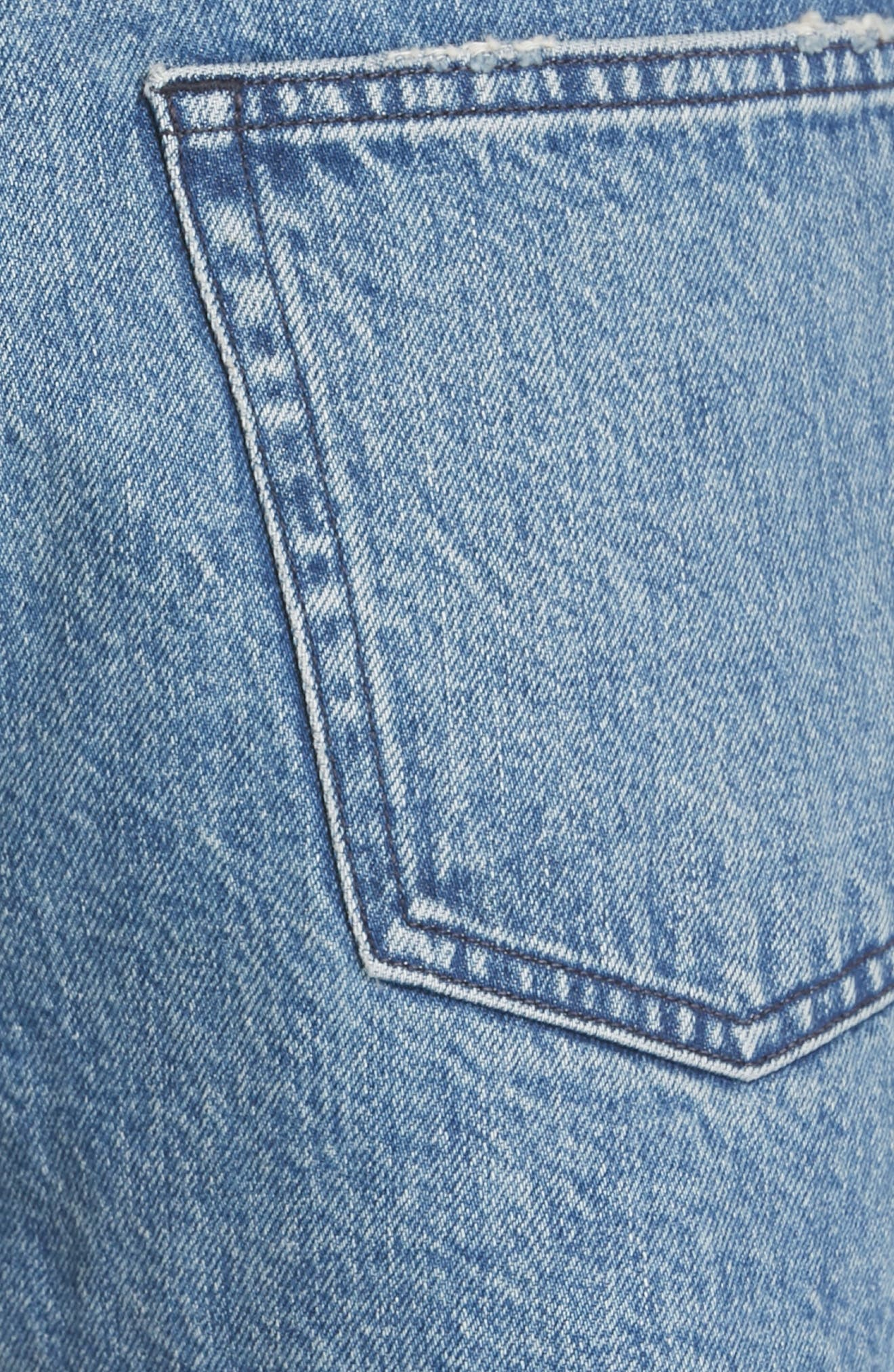 W4 Carter Ripped High Waist Denim Shorts,                             Alternate thumbnail 5, color,                             421
