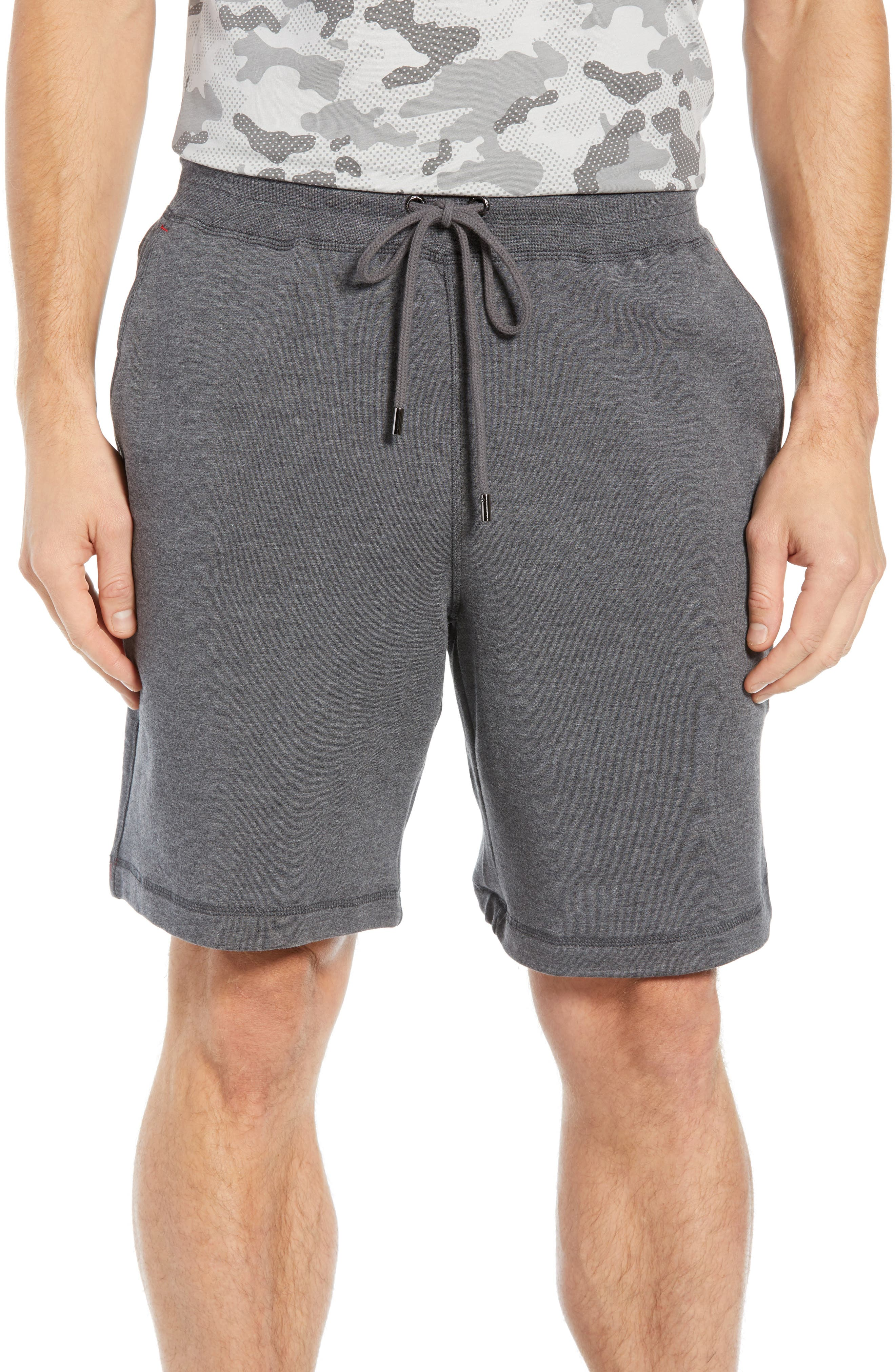 Modal Blend Lounge Shorts,                         Main,                         color, CHARCOAL HEATHER