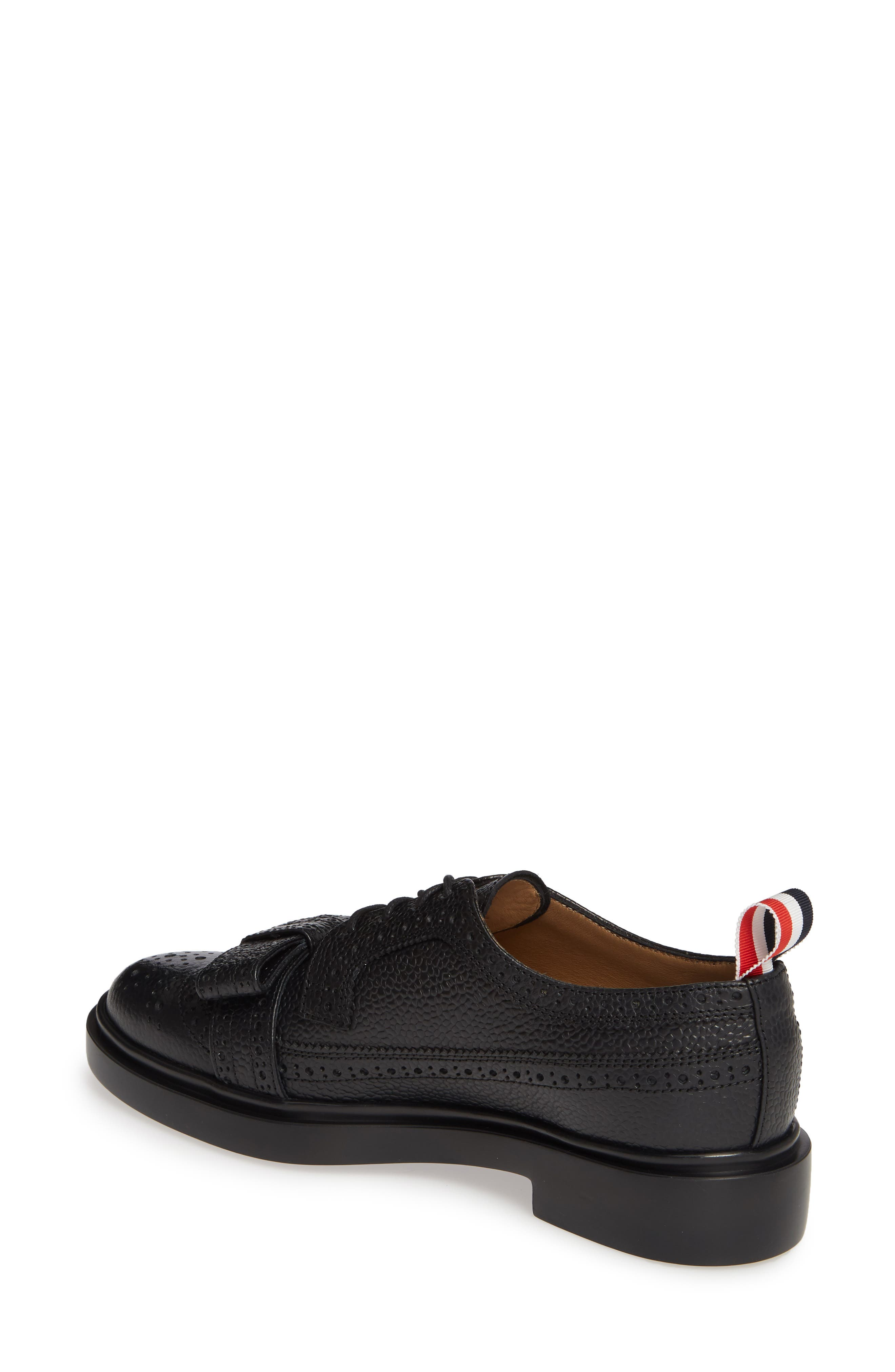 Bow Brogued Oxford,                             Alternate thumbnail 2, color,                             BLACK