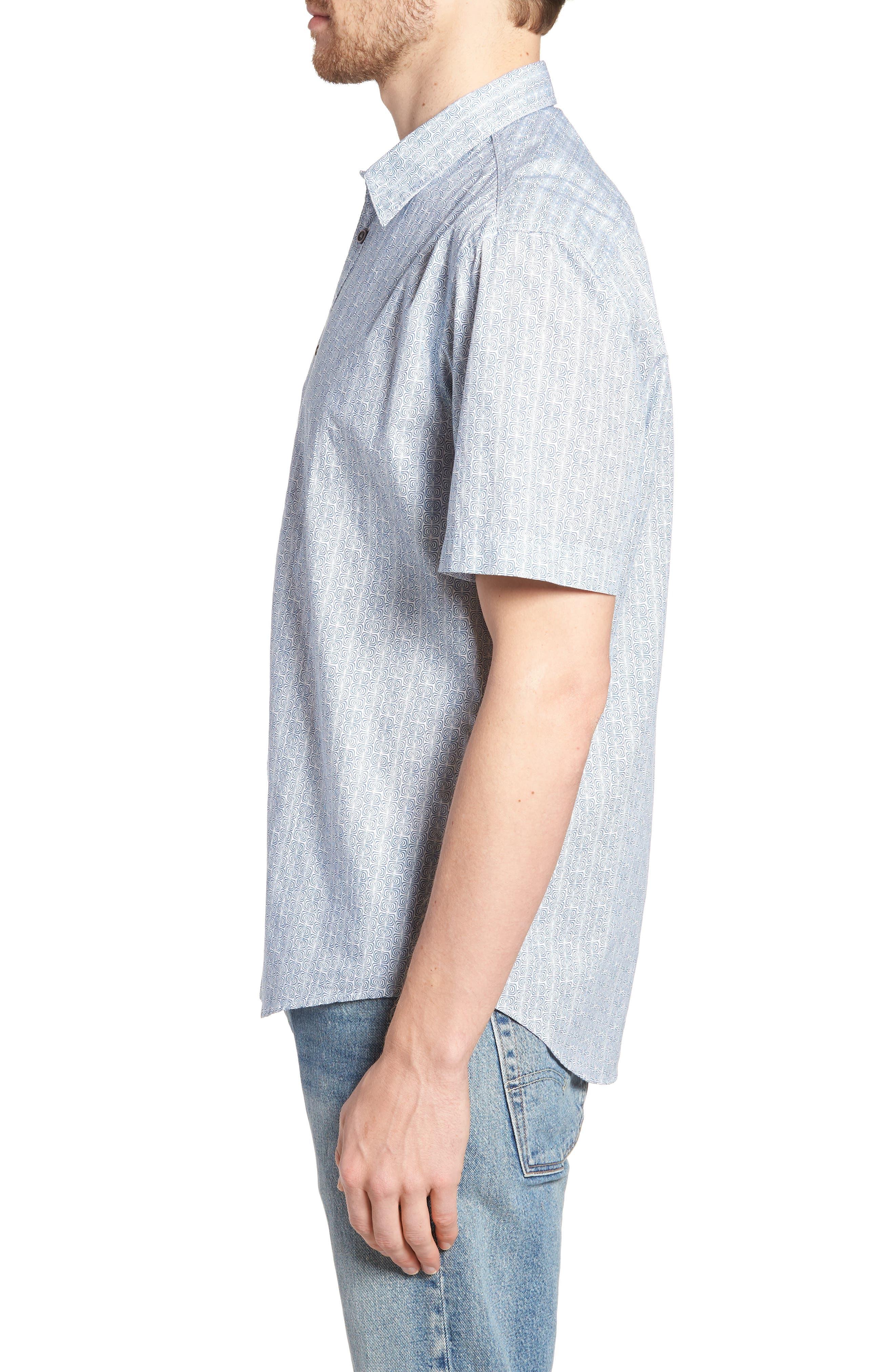 Jacurre Regular Fit Short Sleeve Sport Shirt,                             Alternate thumbnail 3, color,                             462