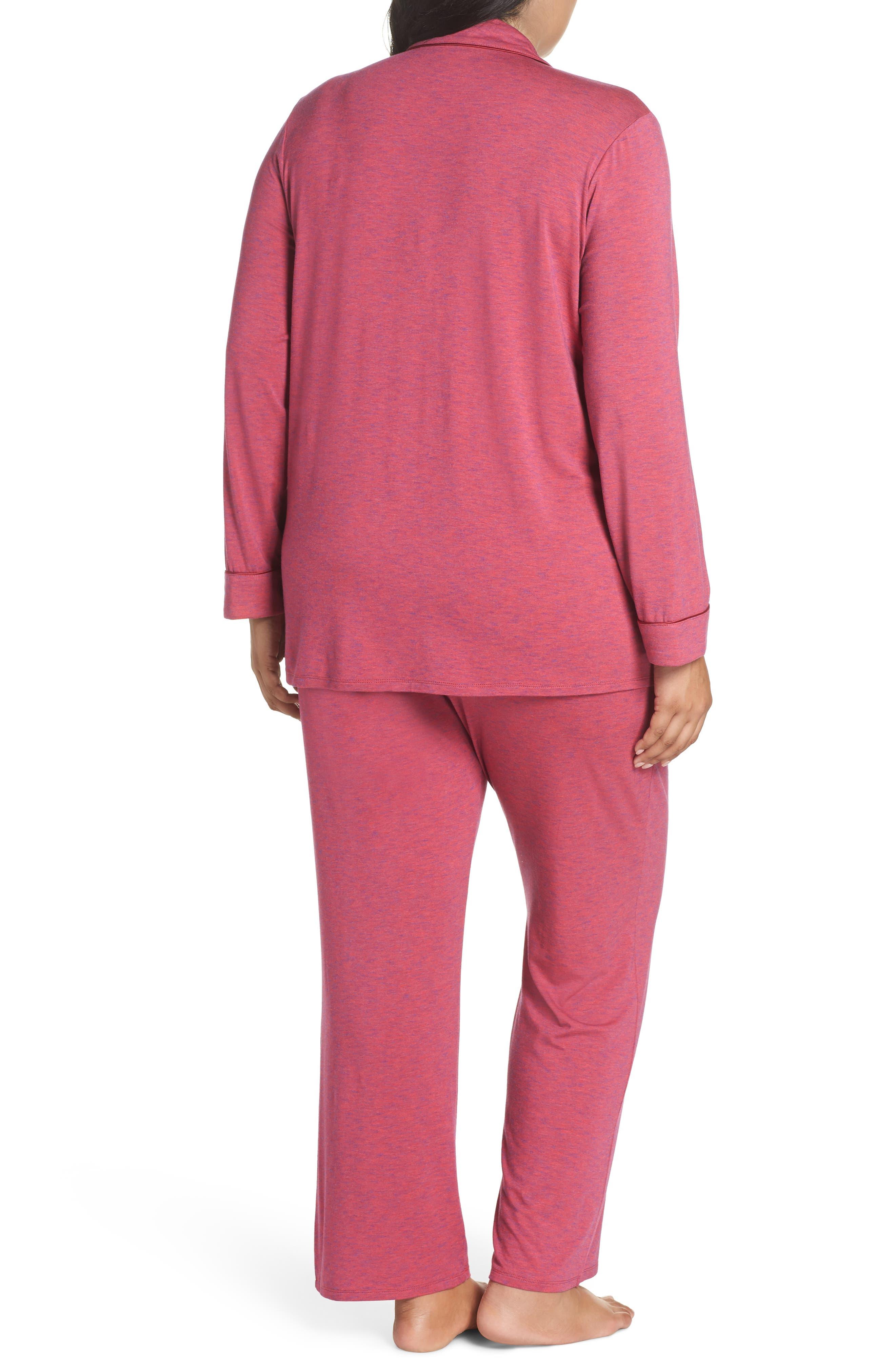 'Moonlight' Pajamas,                             Alternate thumbnail 2, color,                             BURGUNDY SPACEDYE