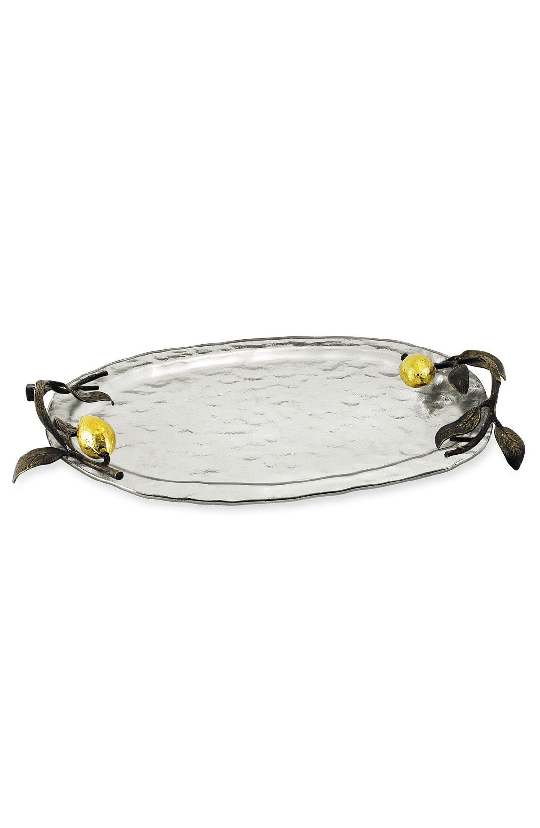 'Lemonwood' Plated Glass Tray,                             Main thumbnail 1, color,                             047