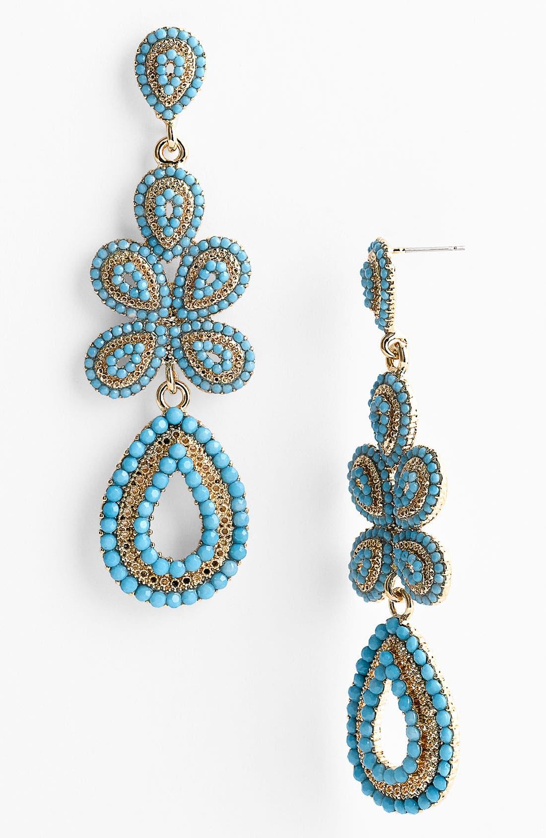 'Ornate' Linear Statement Earrings,                             Main thumbnail 10, color,