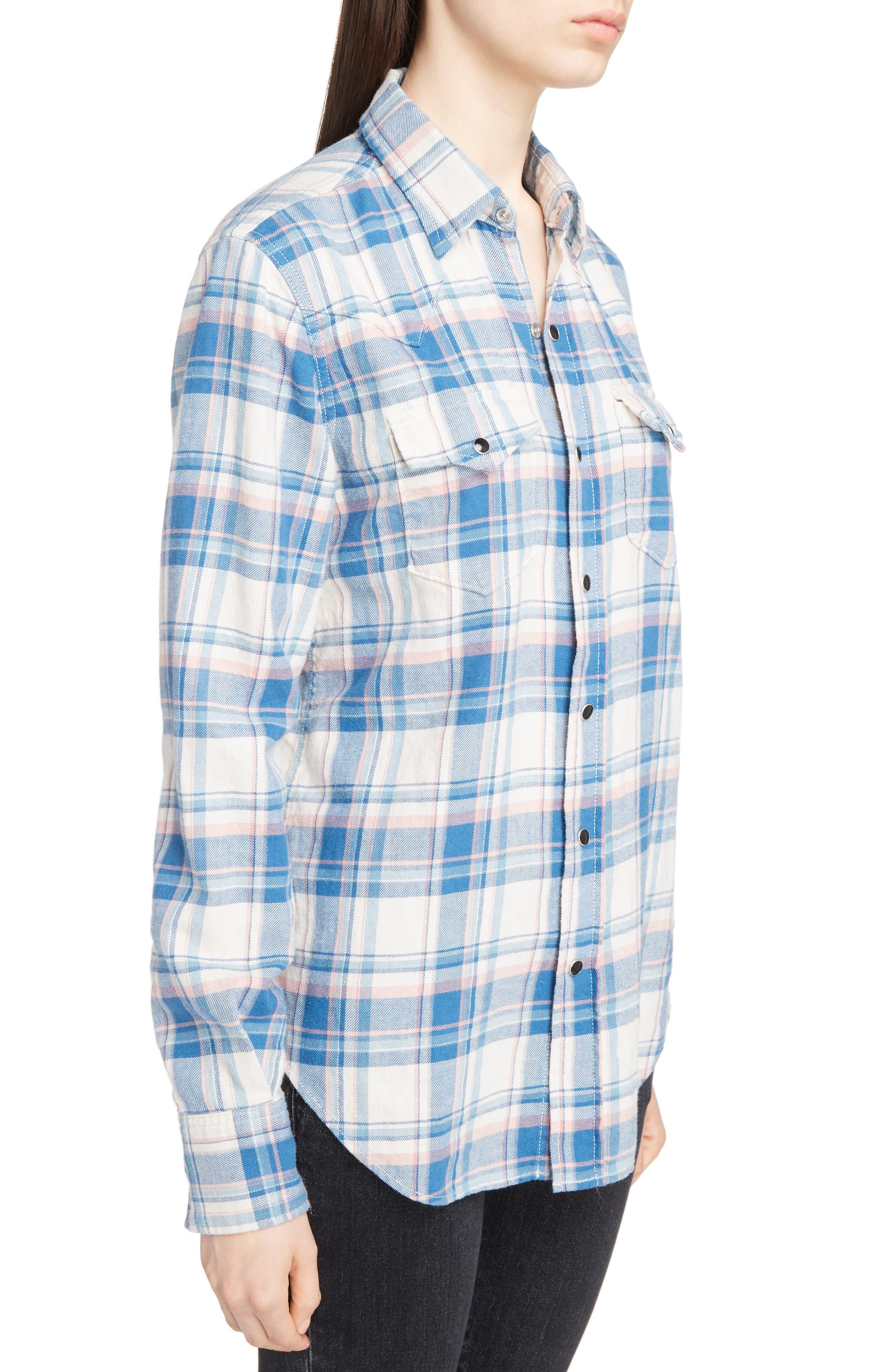 Plaid Western Shirt,                             Alternate thumbnail 4, color,                             482