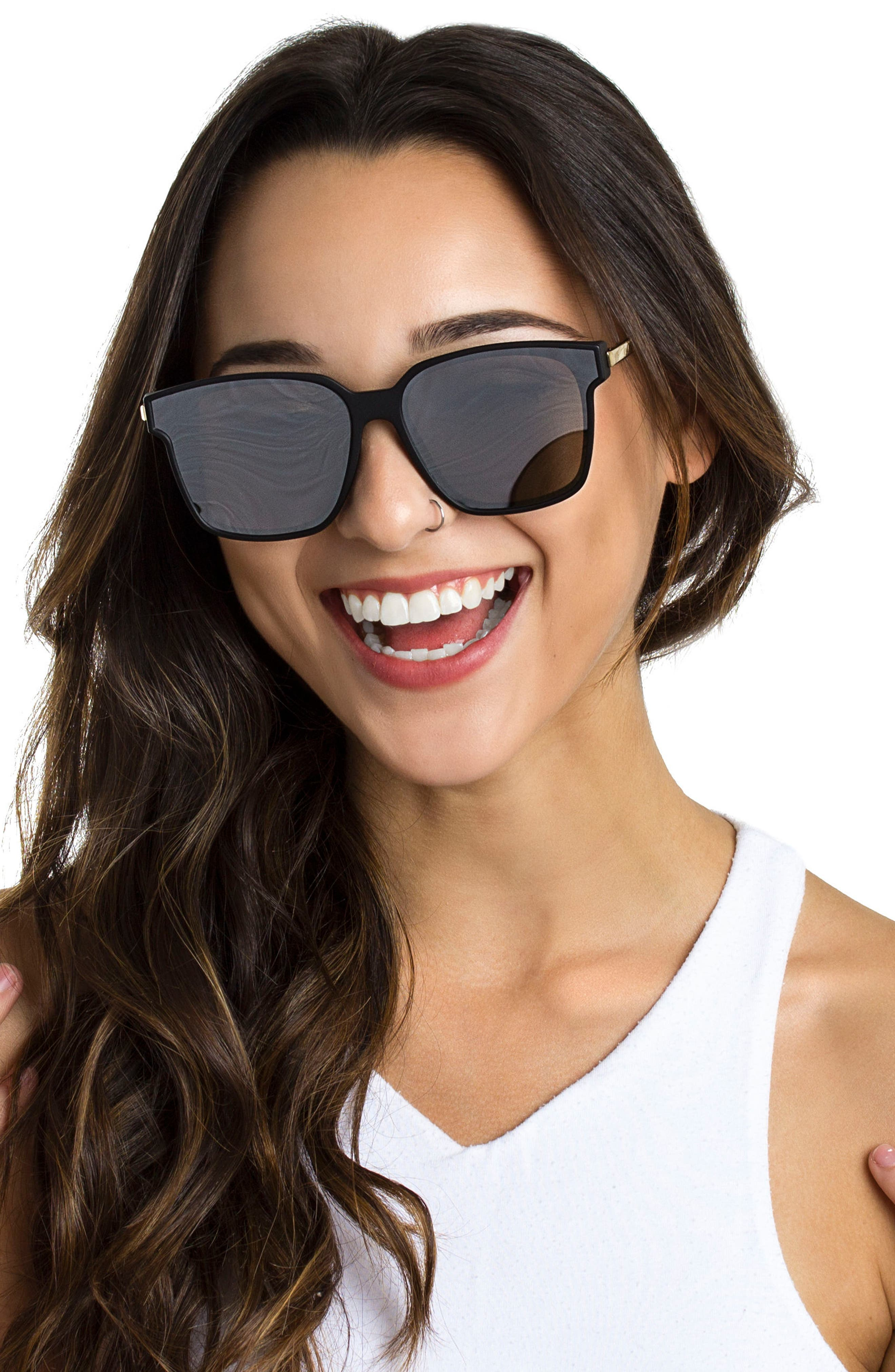 Wall 62mm Square Mirror Lens Sunglasses,                             Alternate thumbnail 9, color,