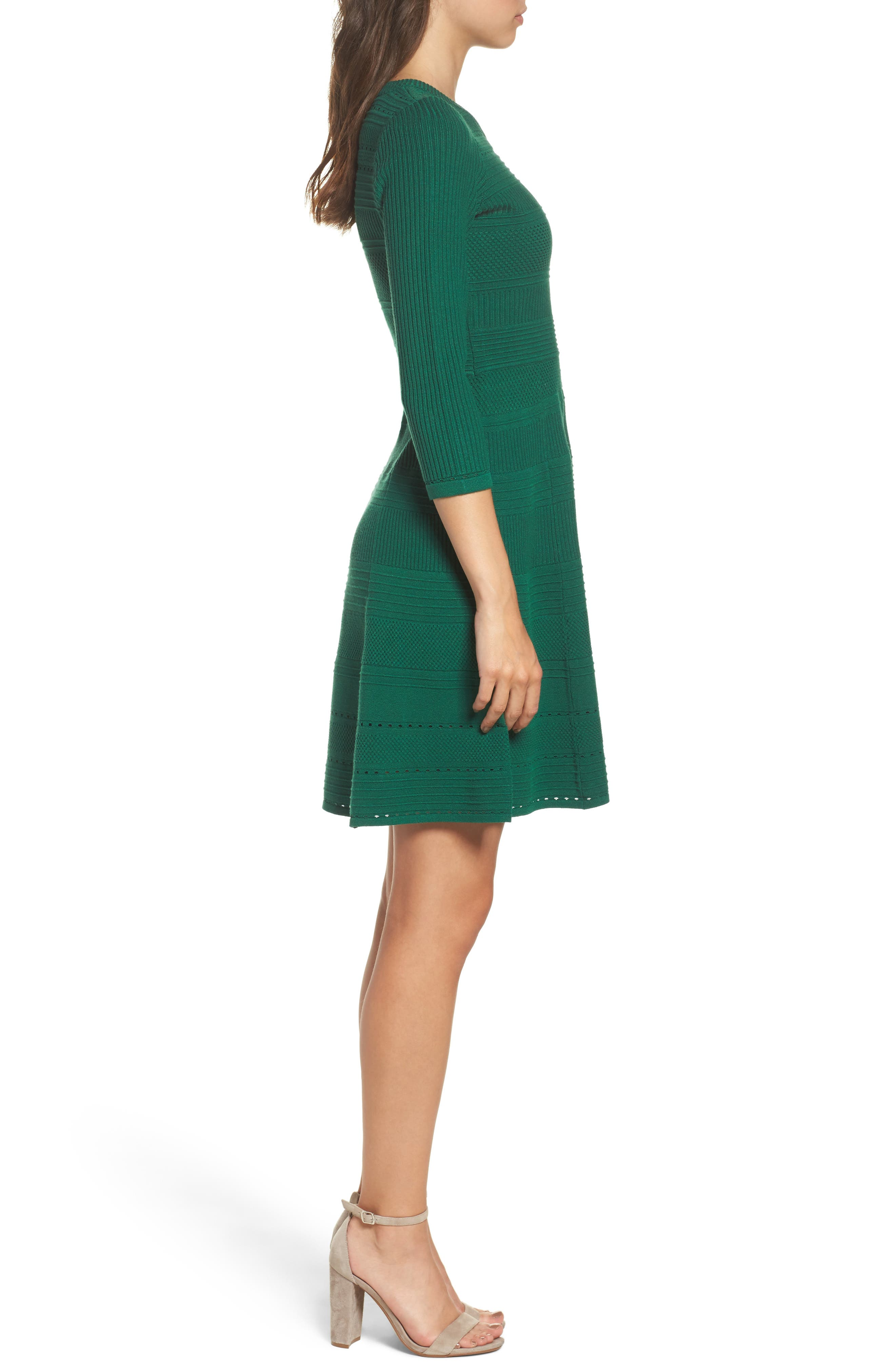 Fit & Flare Sweater Dress,                             Alternate thumbnail 10, color,