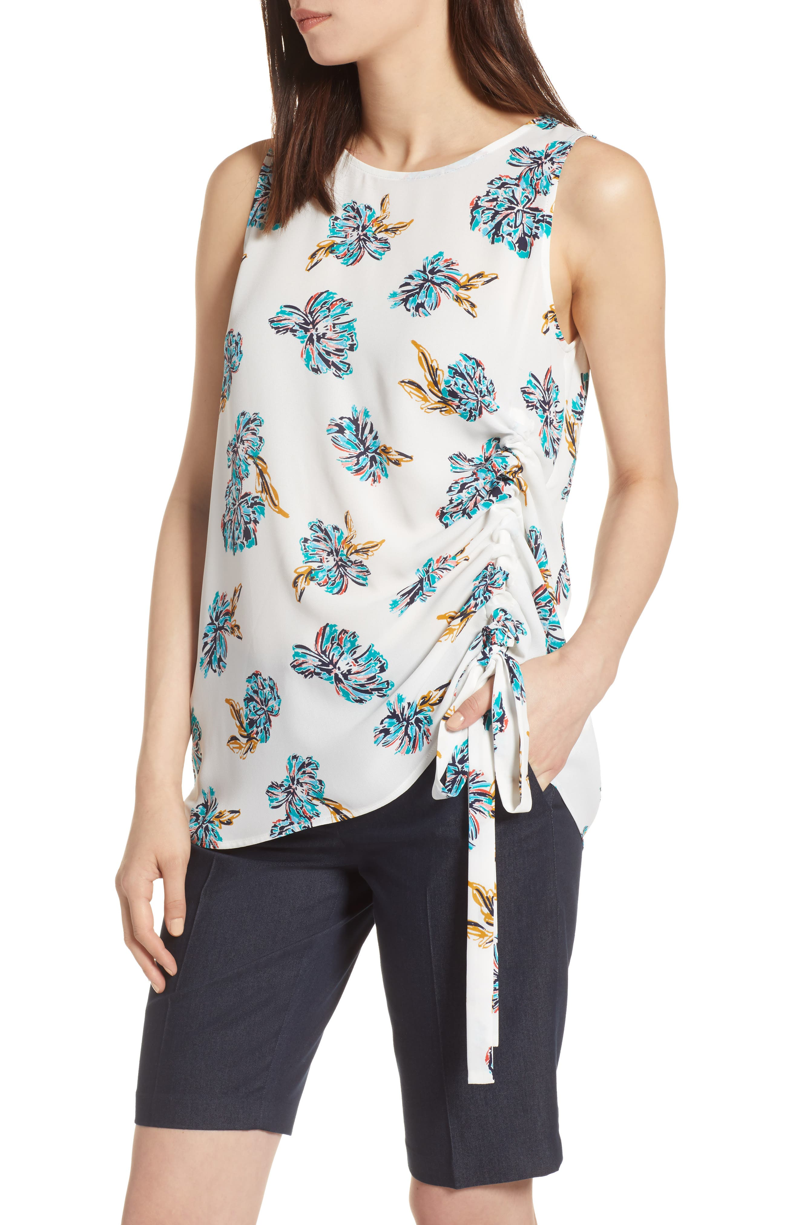 Side Ruched Top,                             Main thumbnail 3, color,