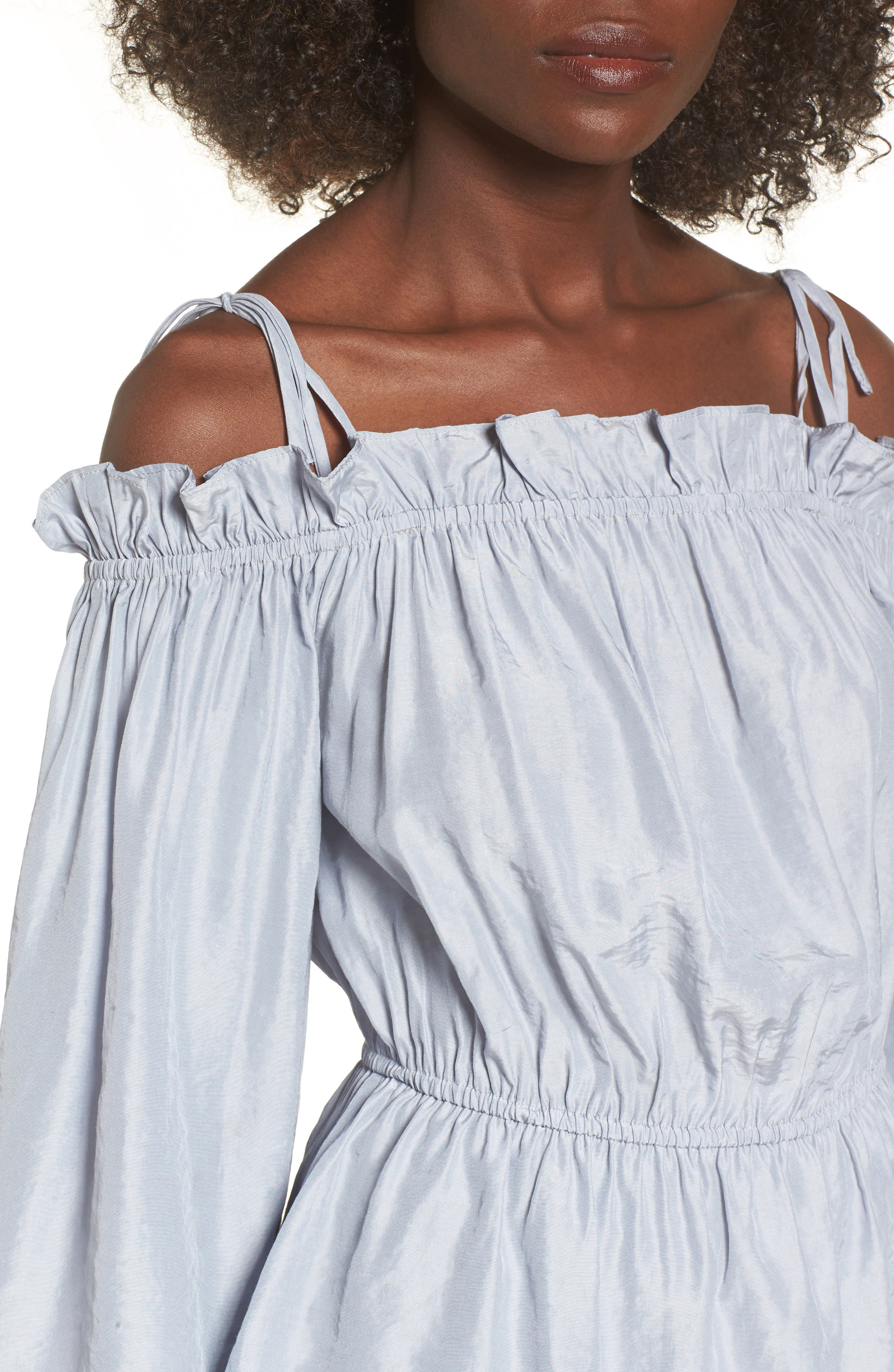 Off the Shoulder Bell Sleeve Blouse,                             Alternate thumbnail 4, color,                             450