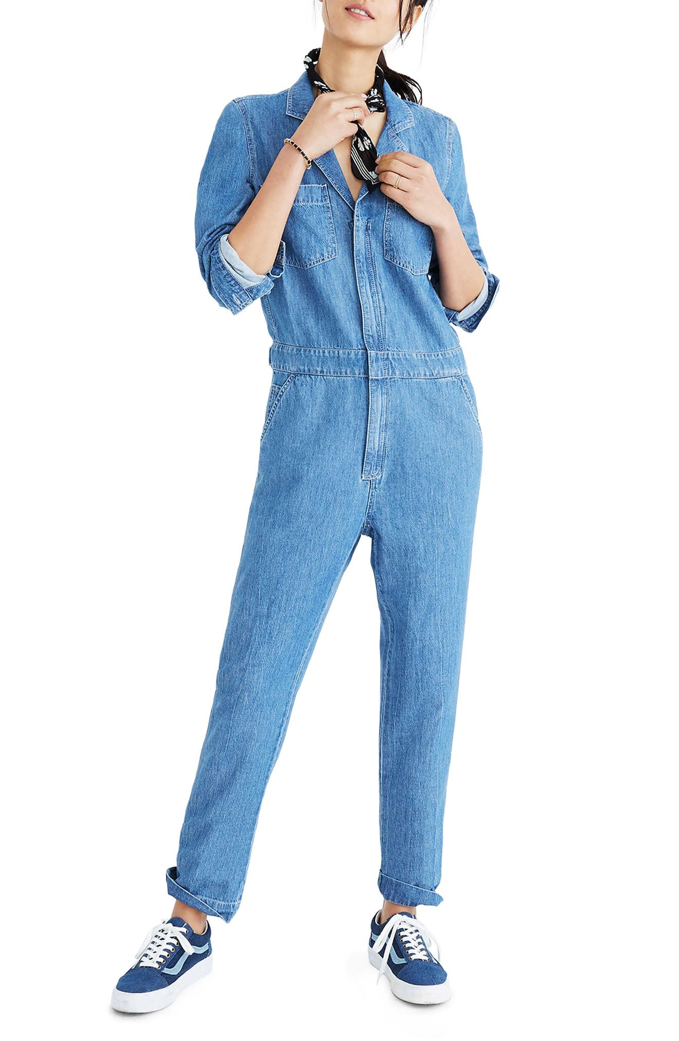 Denim Coverall Jumpsuit,                         Main,                         color, 400