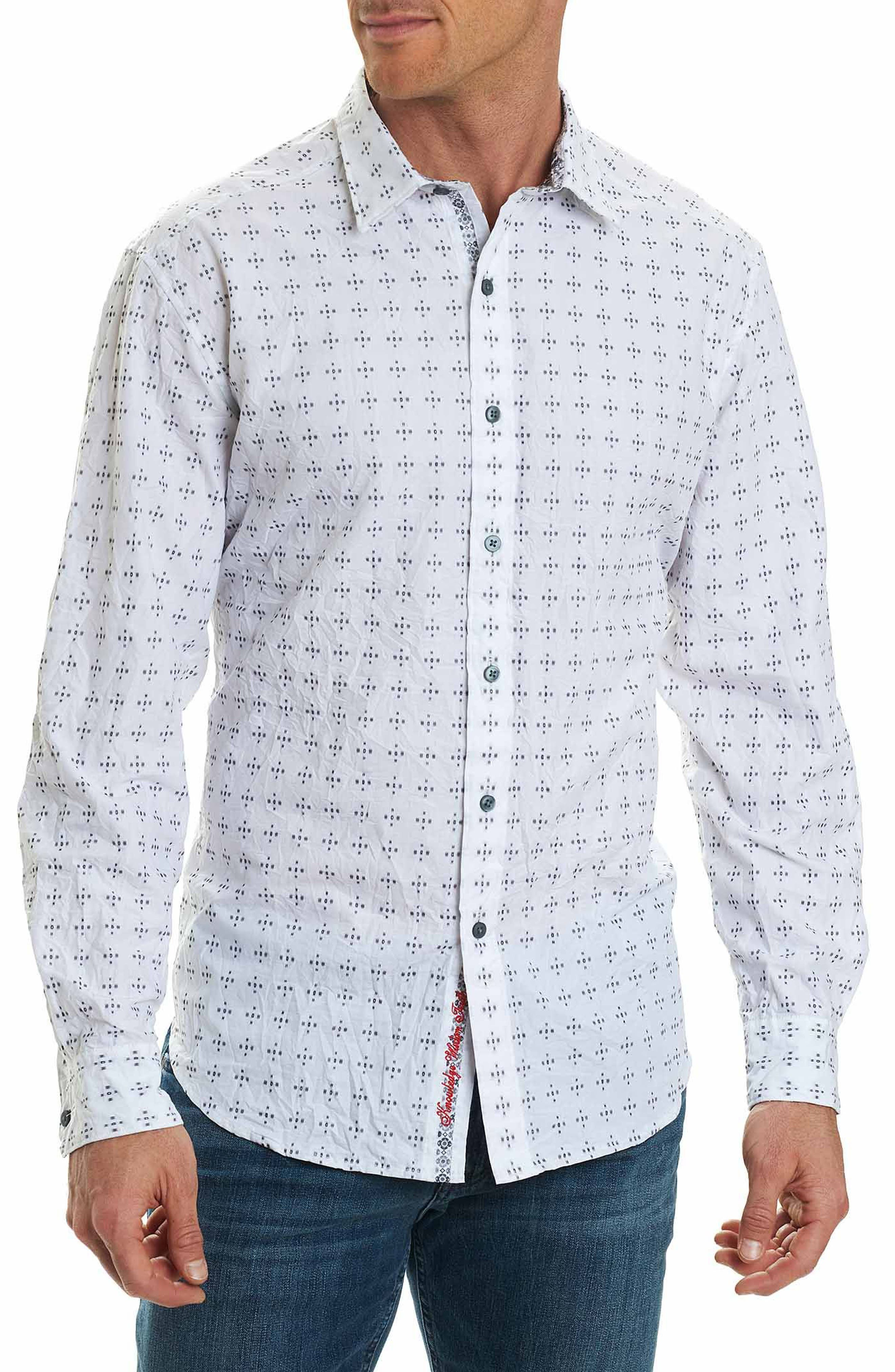 Steger Classic Fit Print Sport Shirt,                         Main,                         color, 100