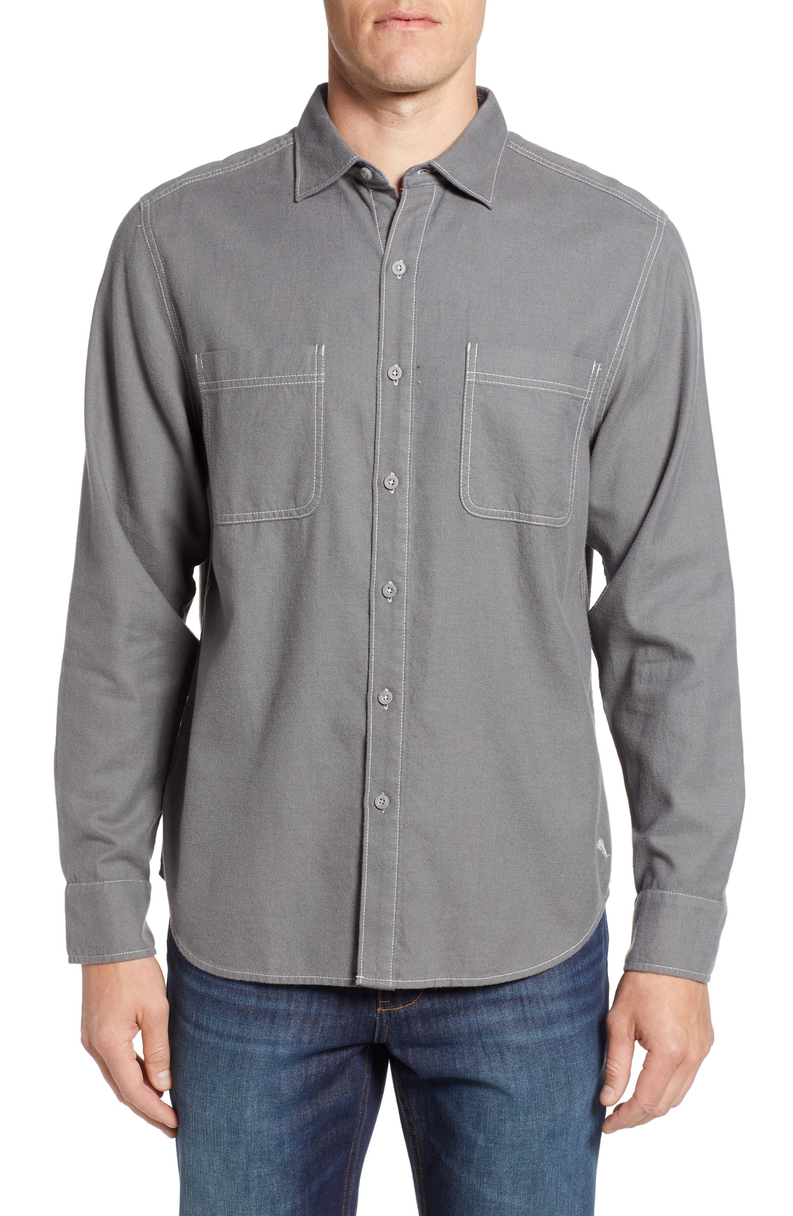 Bonfire Beach Flannel Shirt,                         Main,                         color, CAVE