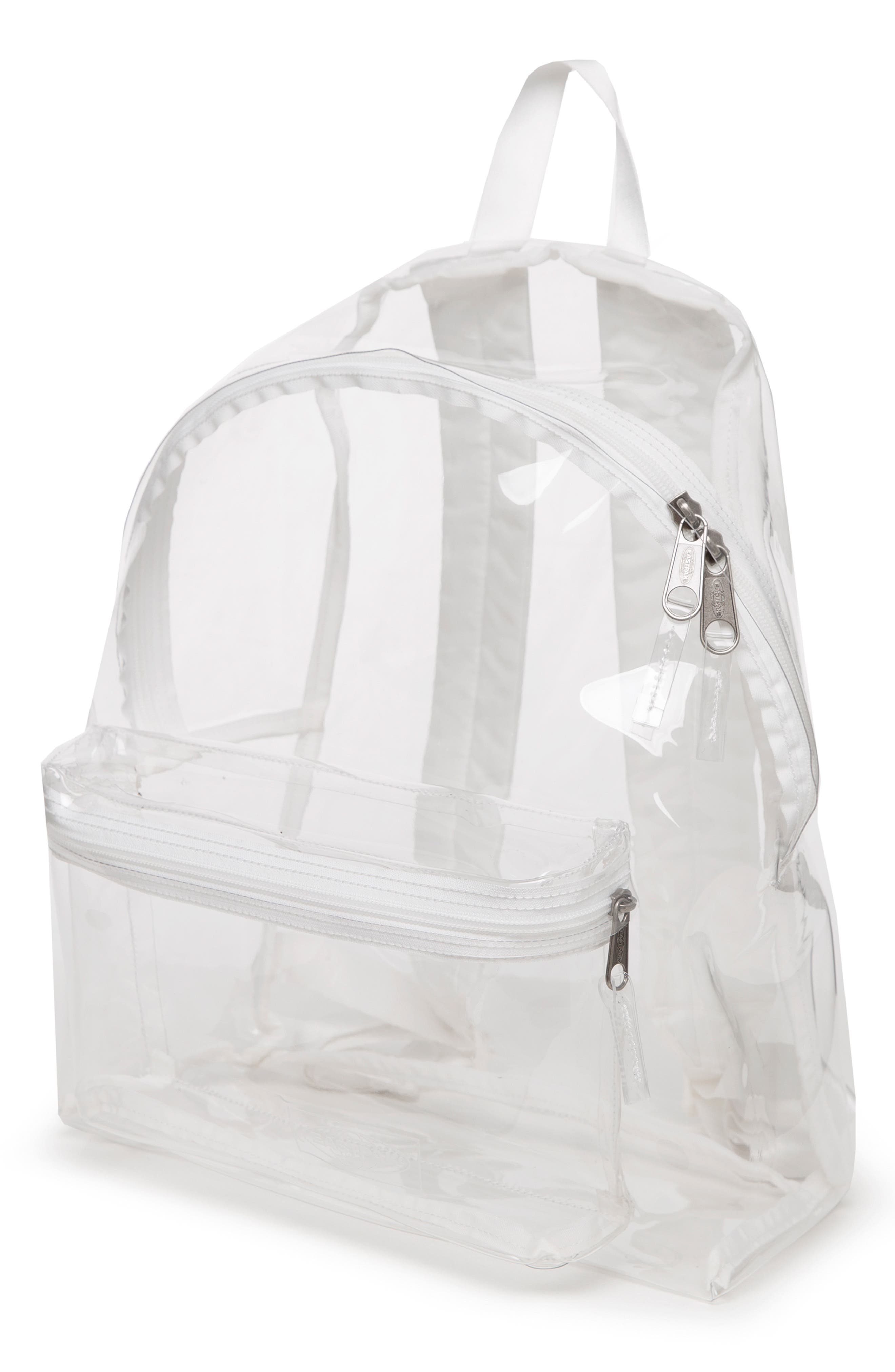 Transparent Padded Pak'r<sup>®</sup> Backpack,                             Alternate thumbnail 2, color,                             GLASS