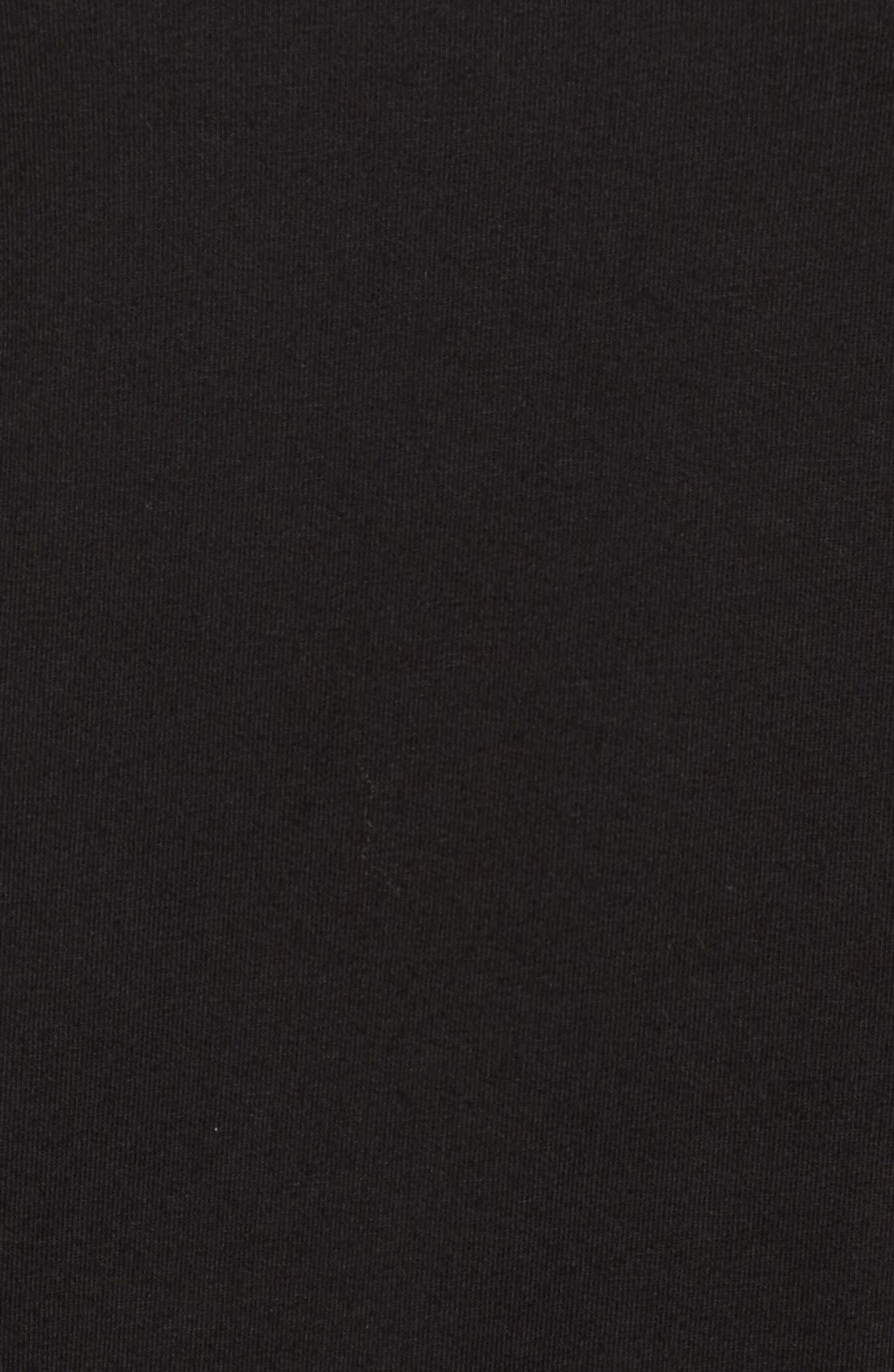 Ruffle Detail Sweatshirt,                             Alternate thumbnail 5, color,                             001