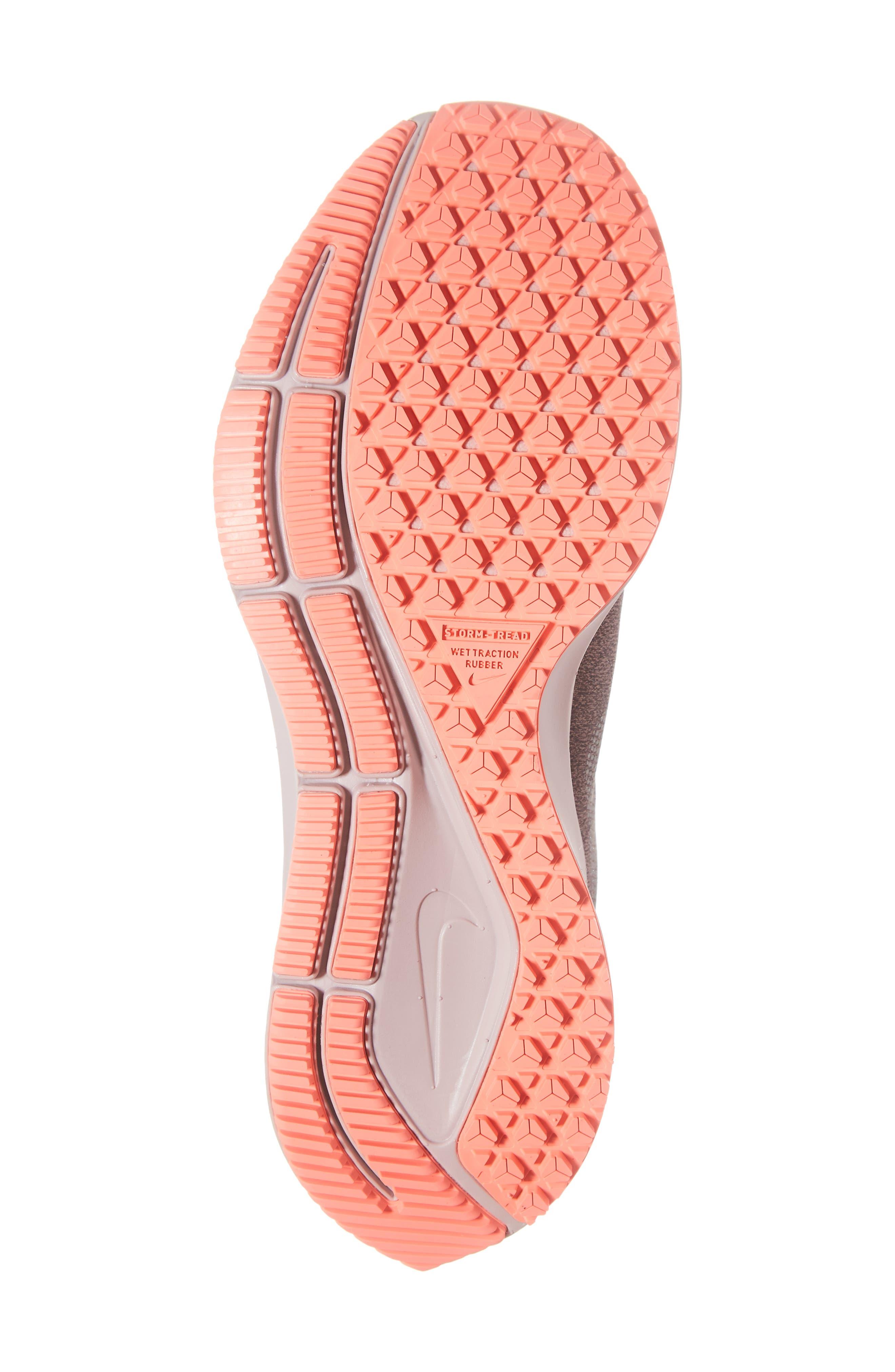 Air Zoom Pegasus 35 Shield GS Water Repellent Running Shoe,                             Alternate thumbnail 6, color,                             GREY/ METALLIC SILVER- MAUVE