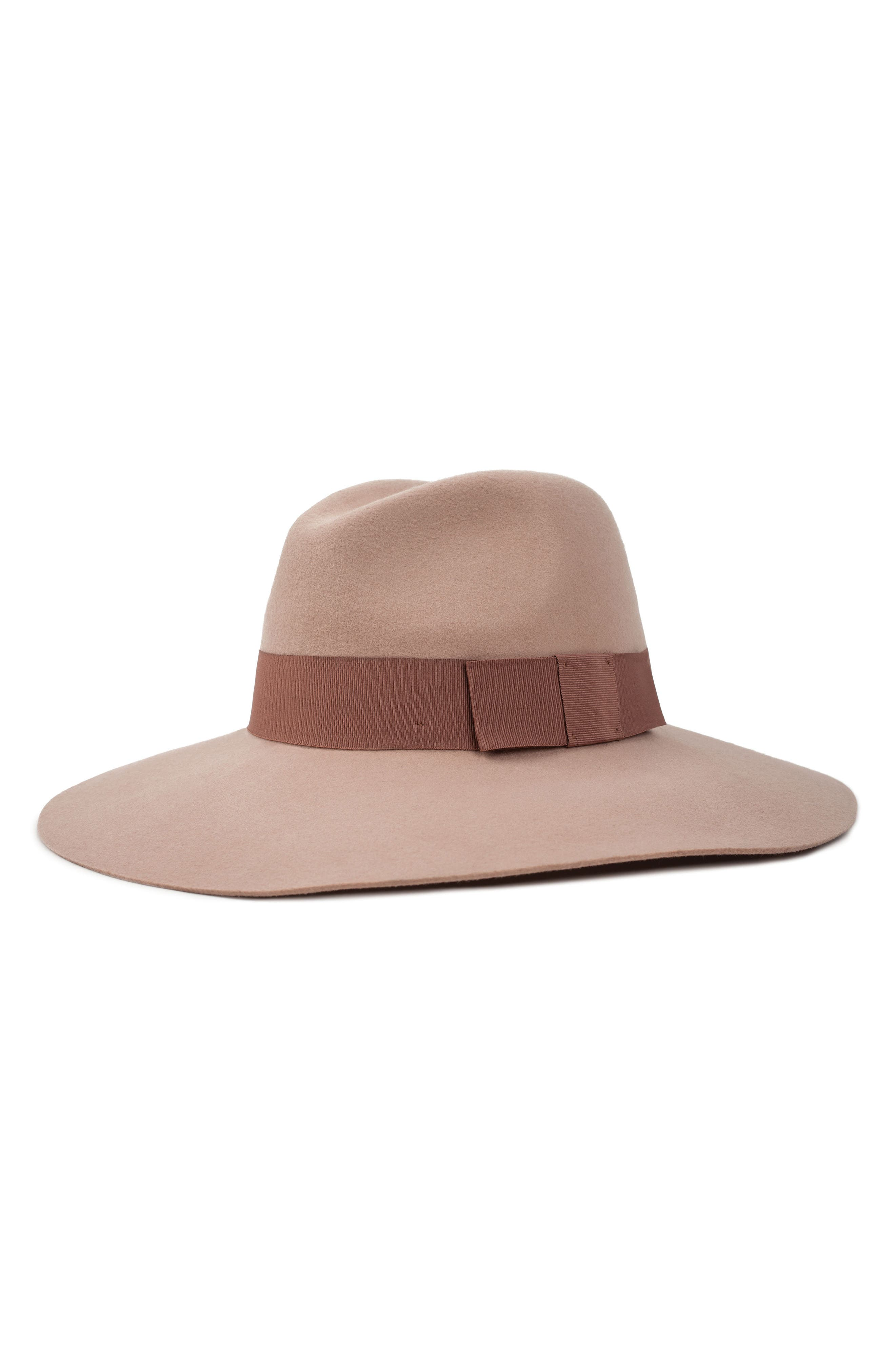 'Piper' Floppy Wool Hat,                         Main,                         color, BLUSH