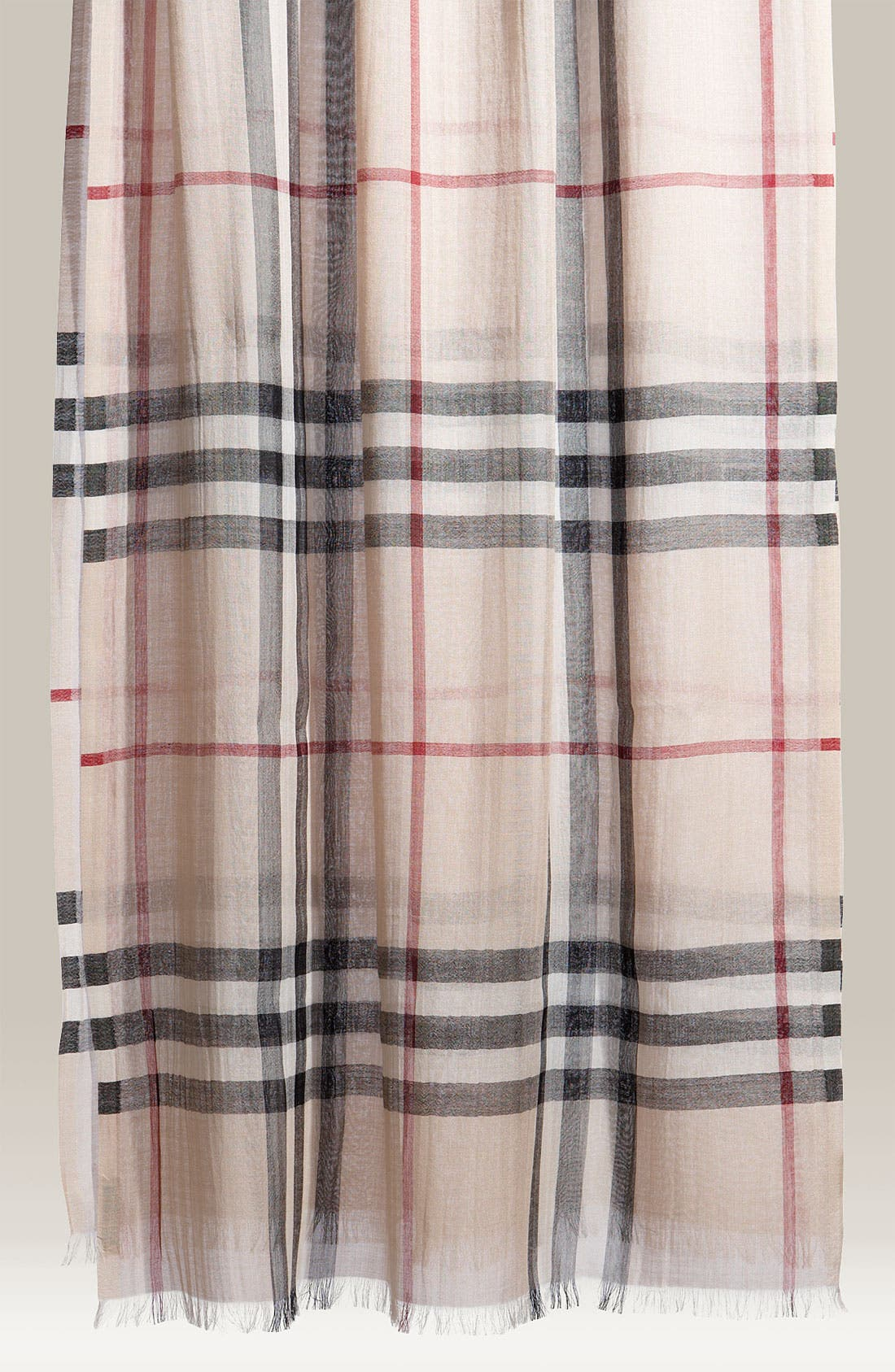 Giant Check Print Wool & Silk Scarf,                             Main thumbnail 15, color,