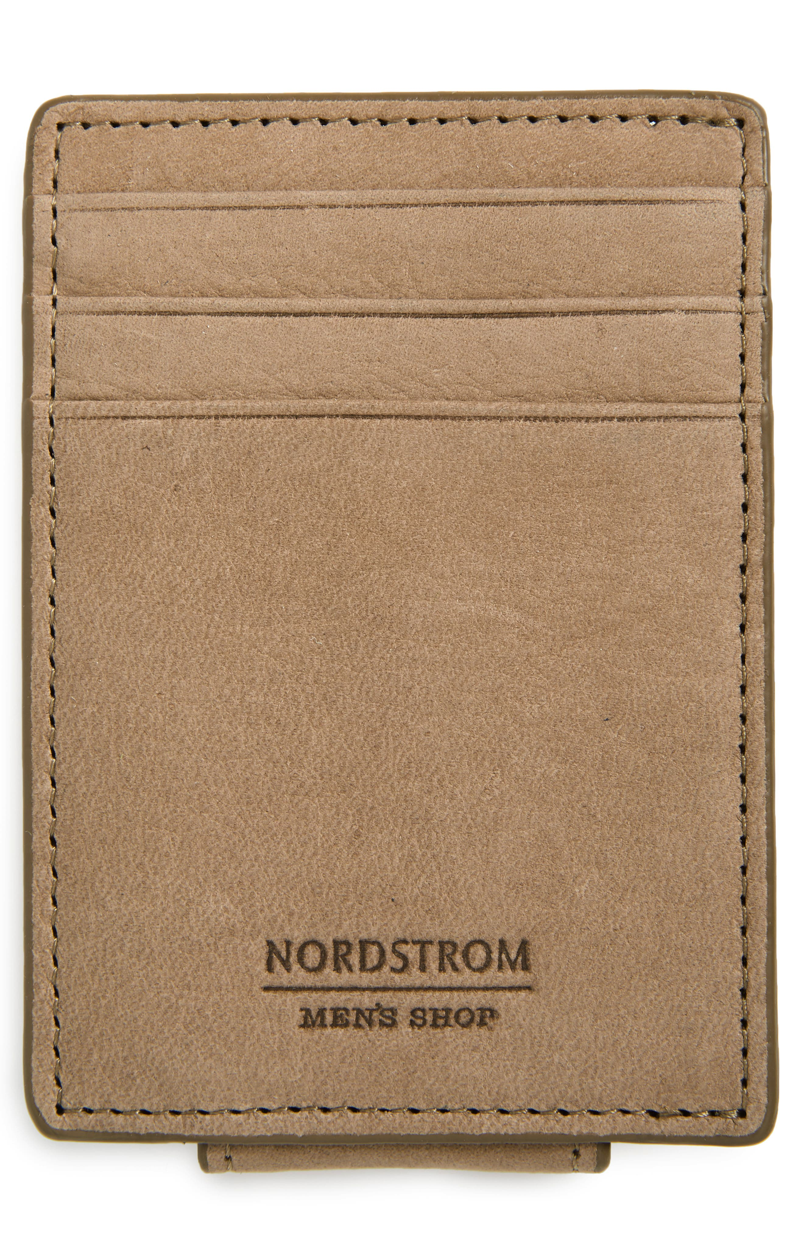 Upton RFID Leather Money Clip Card Case,                             Main thumbnail 1, color,                             TAN DUSK