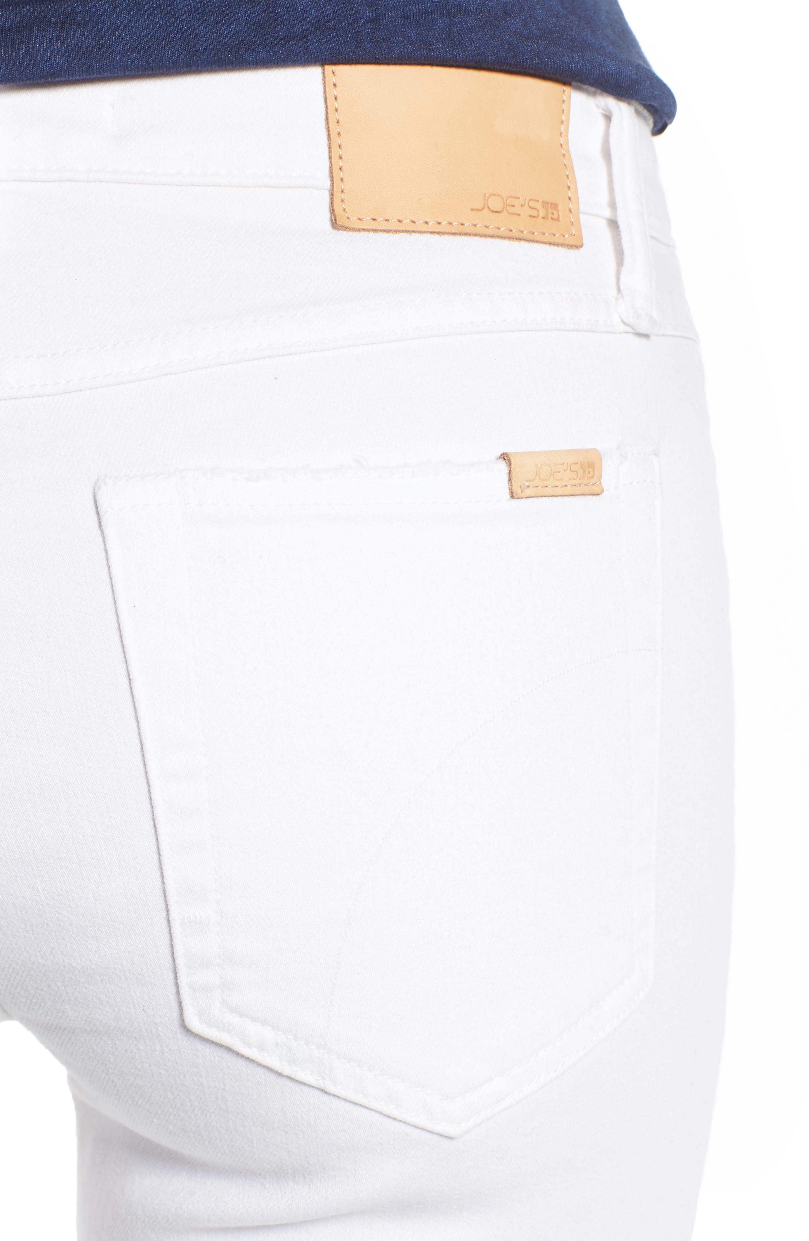 Andie Crop Skinny Jeans,                             Alternate thumbnail 4, color,                             100