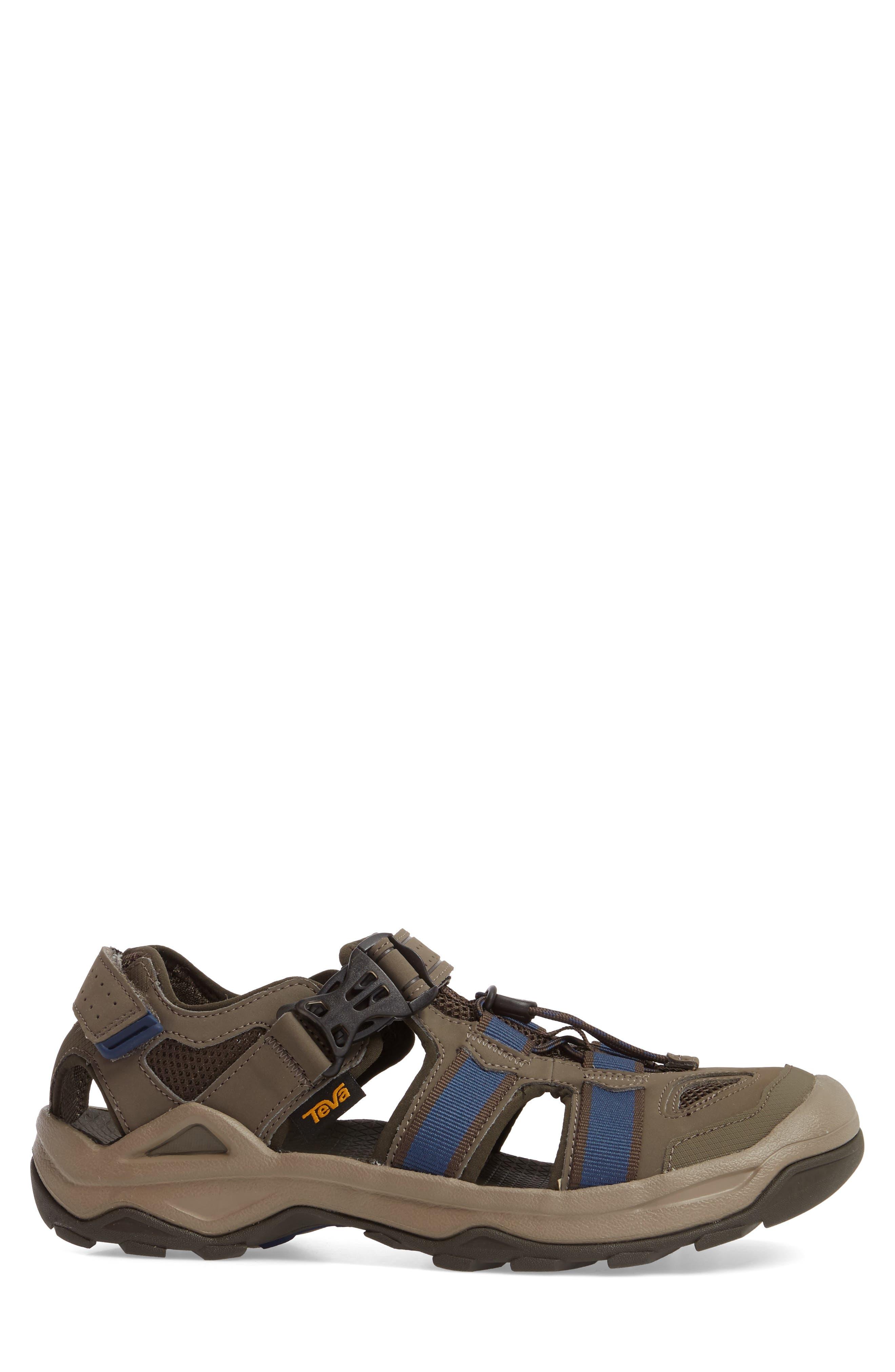 Omnium 2 Hiking Sandal,                             Alternate thumbnail 3, color,                             BROWN NYLON