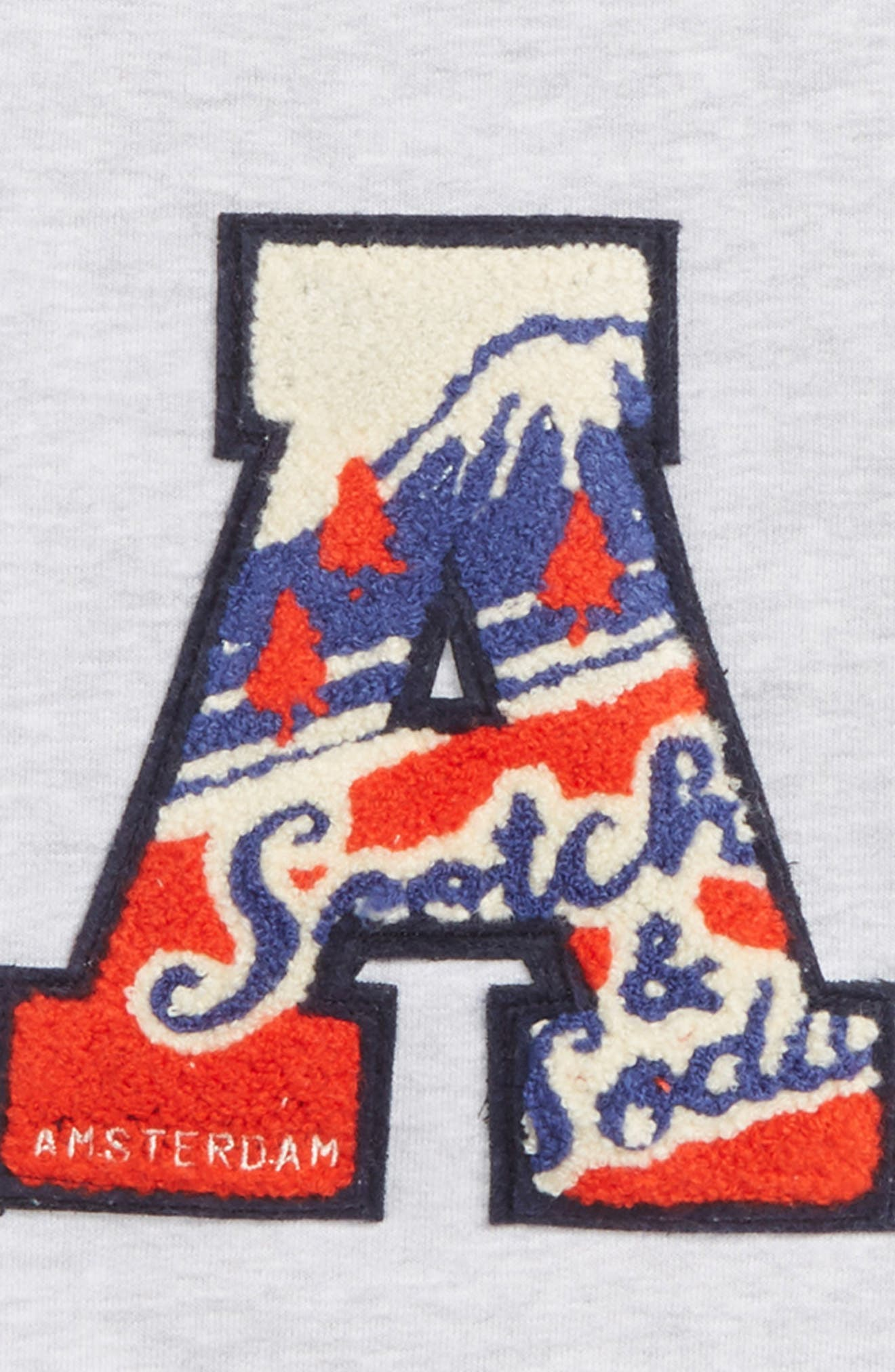 Badge Sweatshirt,                             Alternate thumbnail 2, color,                             GREY MELANGE