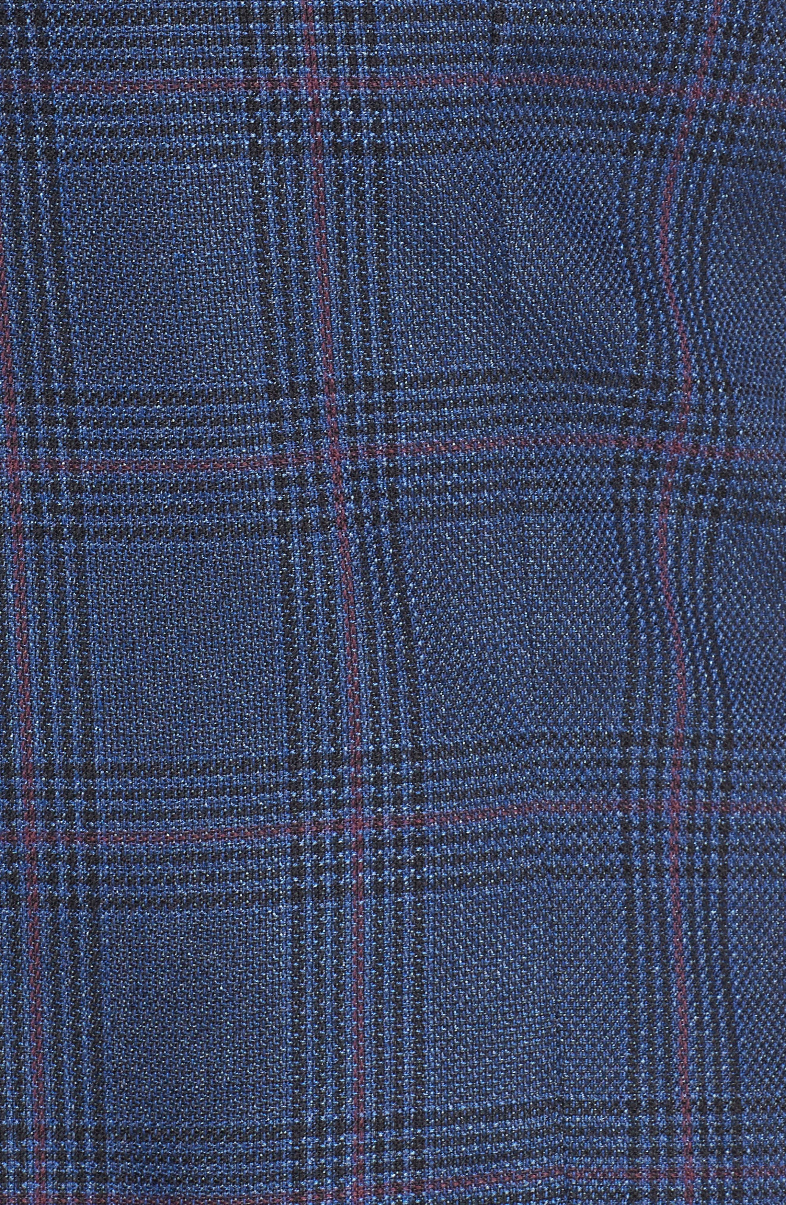 SEJOUR,                             Plaid Tweed Jacket,                             Alternate thumbnail 7, color,                             BLUE SAM PLAID