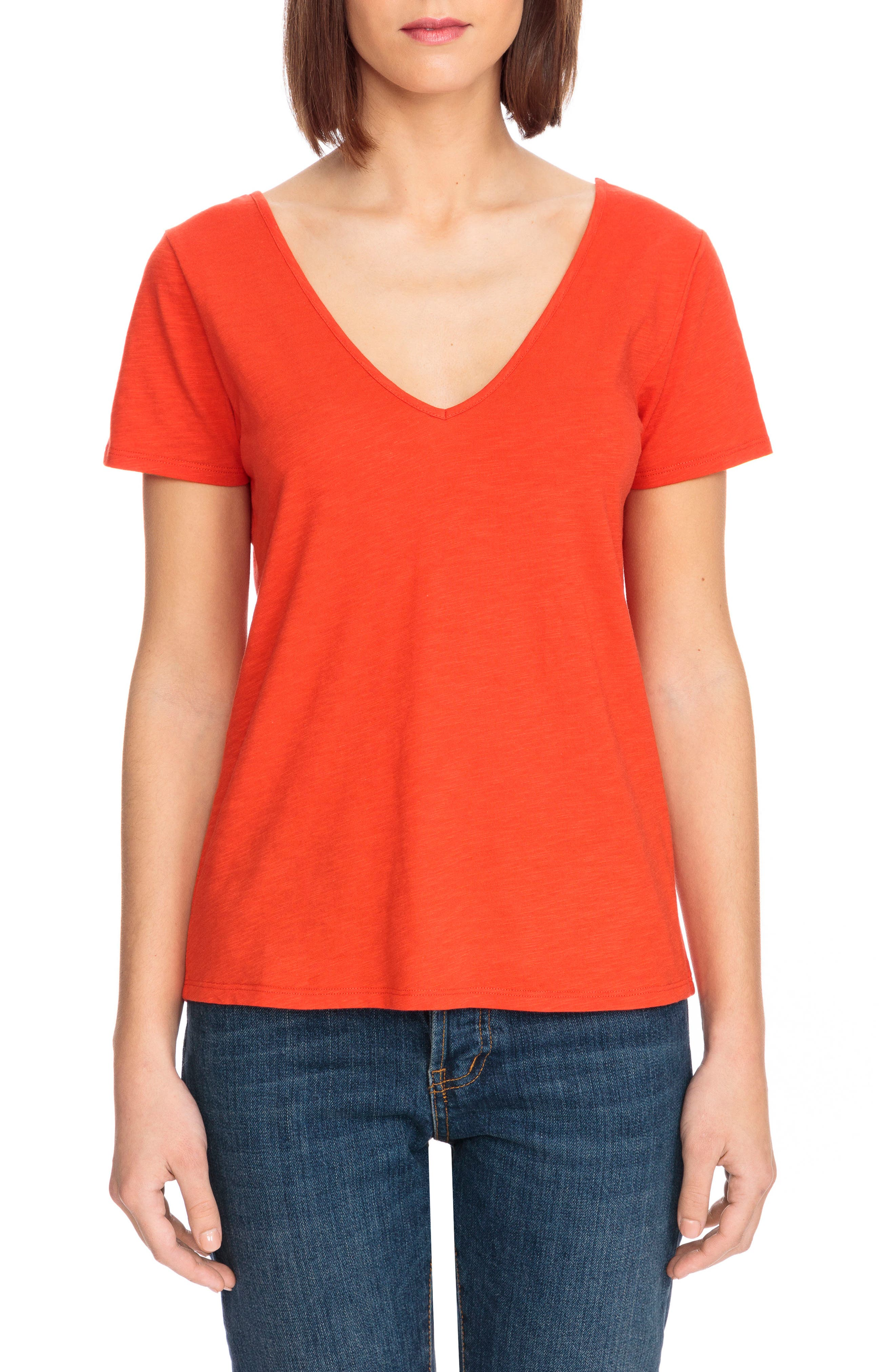 Lydie Crossback Tee,                             Main thumbnail 1, color,                             600