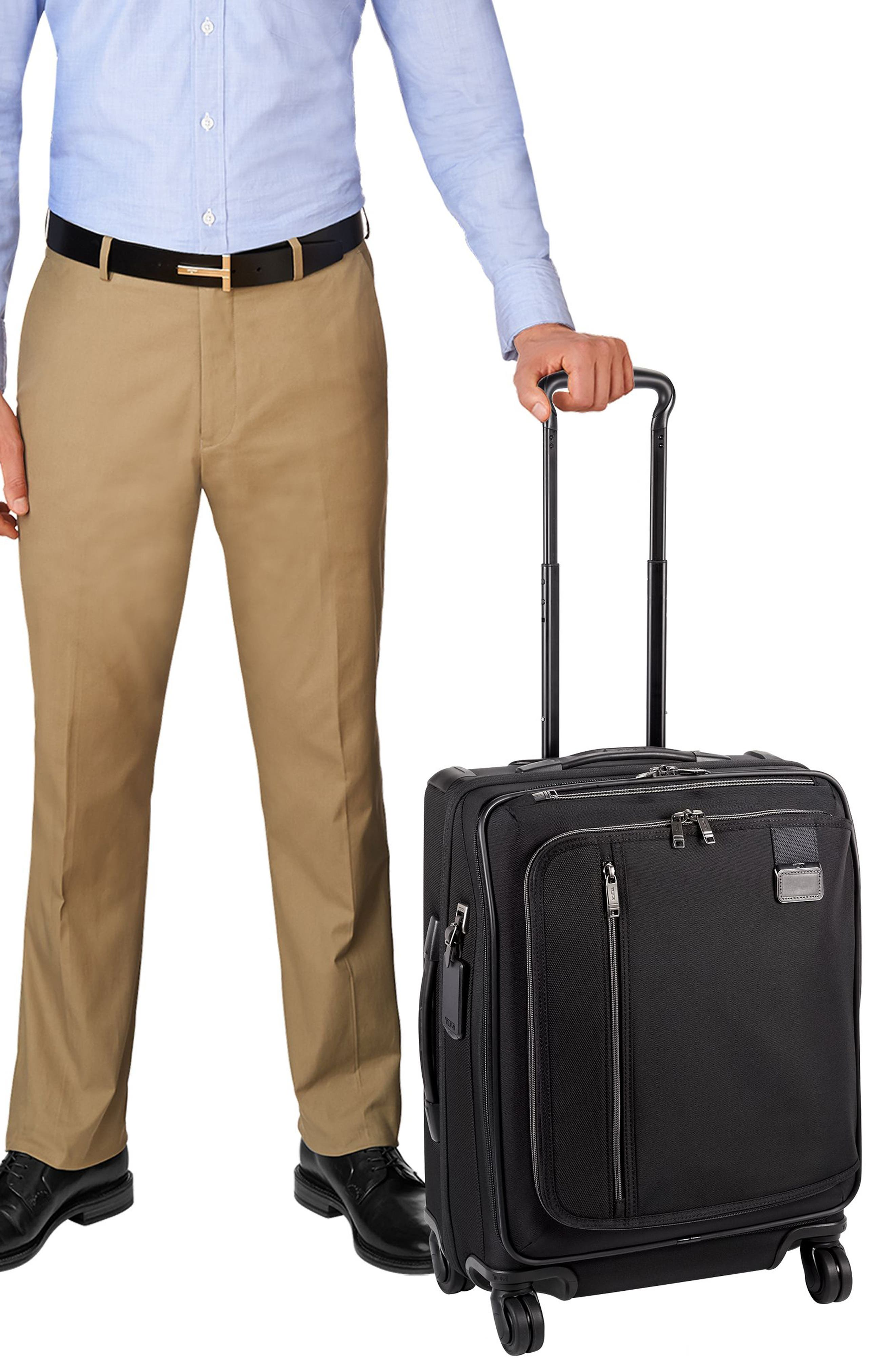 Merge - 22-Inch Continental Expandable Rolling Carry-On,                             Alternate thumbnail 2, color,                             BLACK CONTRAST