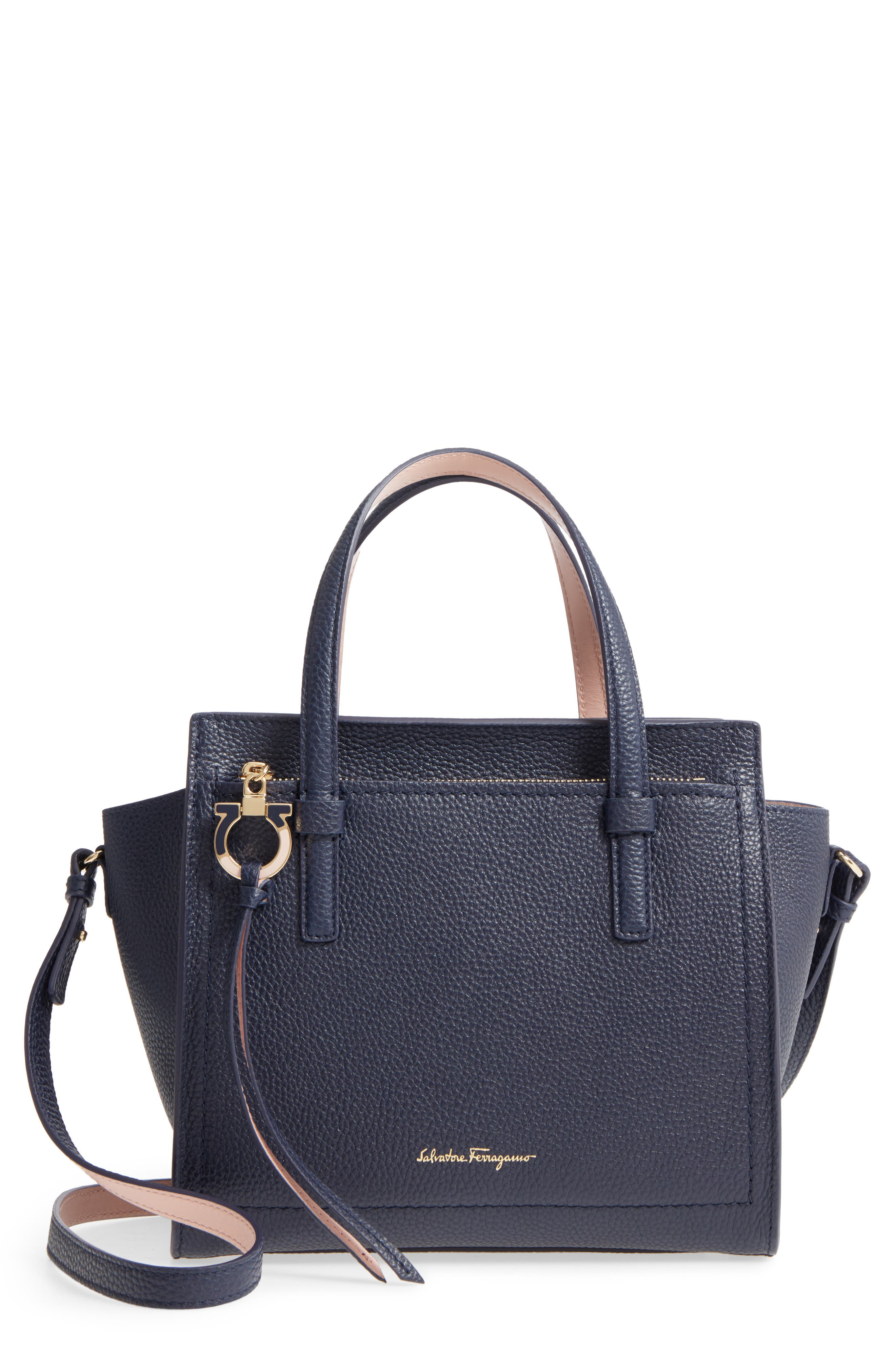 Small Amy Bicolor Leather Tote,                             Main thumbnail 1, color,                             292