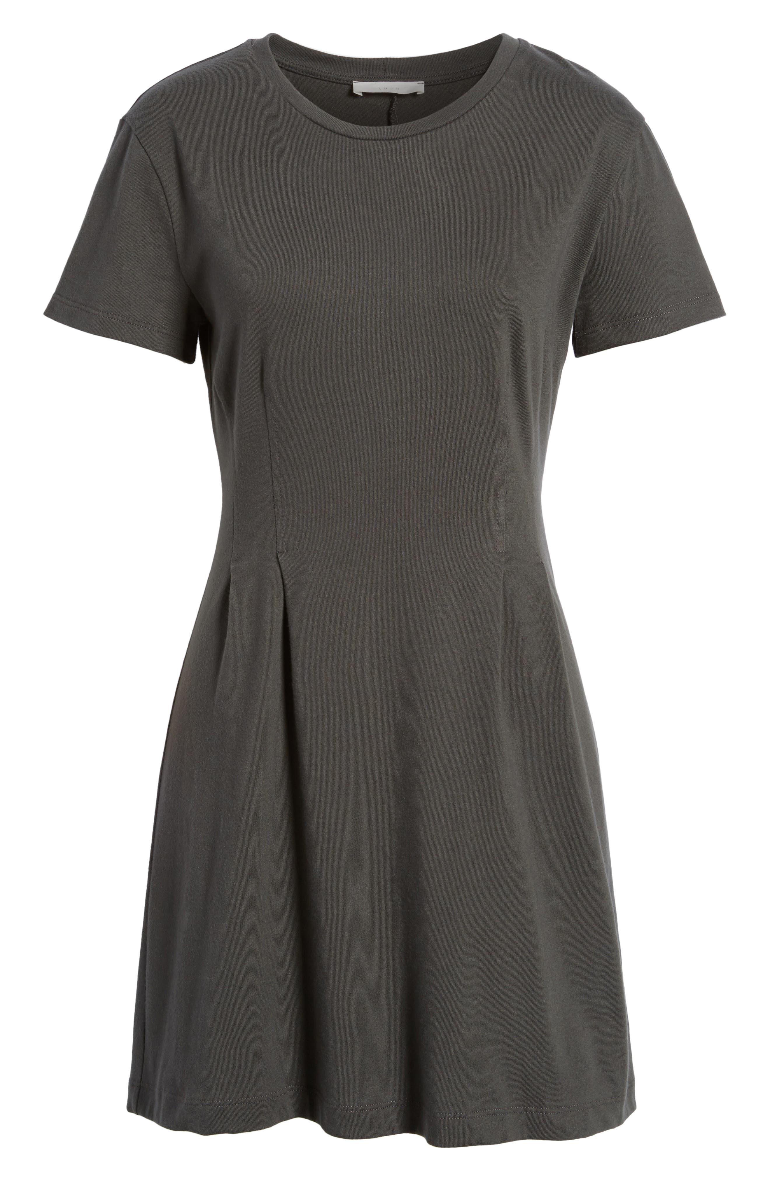 Cotton T-Shirt Dress,                             Alternate thumbnail 6, color,                             020