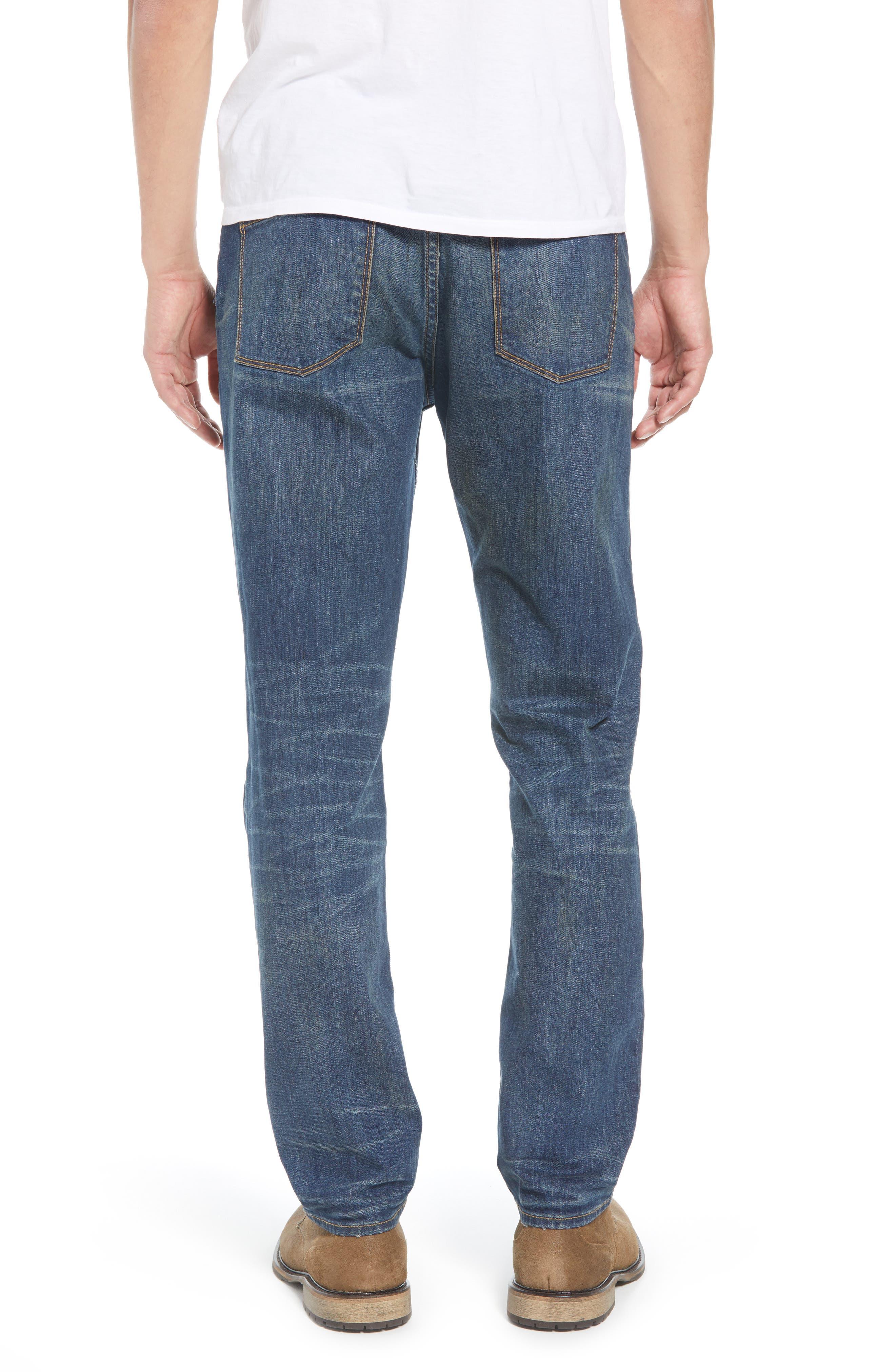 TREASURE & BOND,                             Slim Fit Jeans,                             Alternate thumbnail 2, color,                             BLUE MED VINTAGE WASH