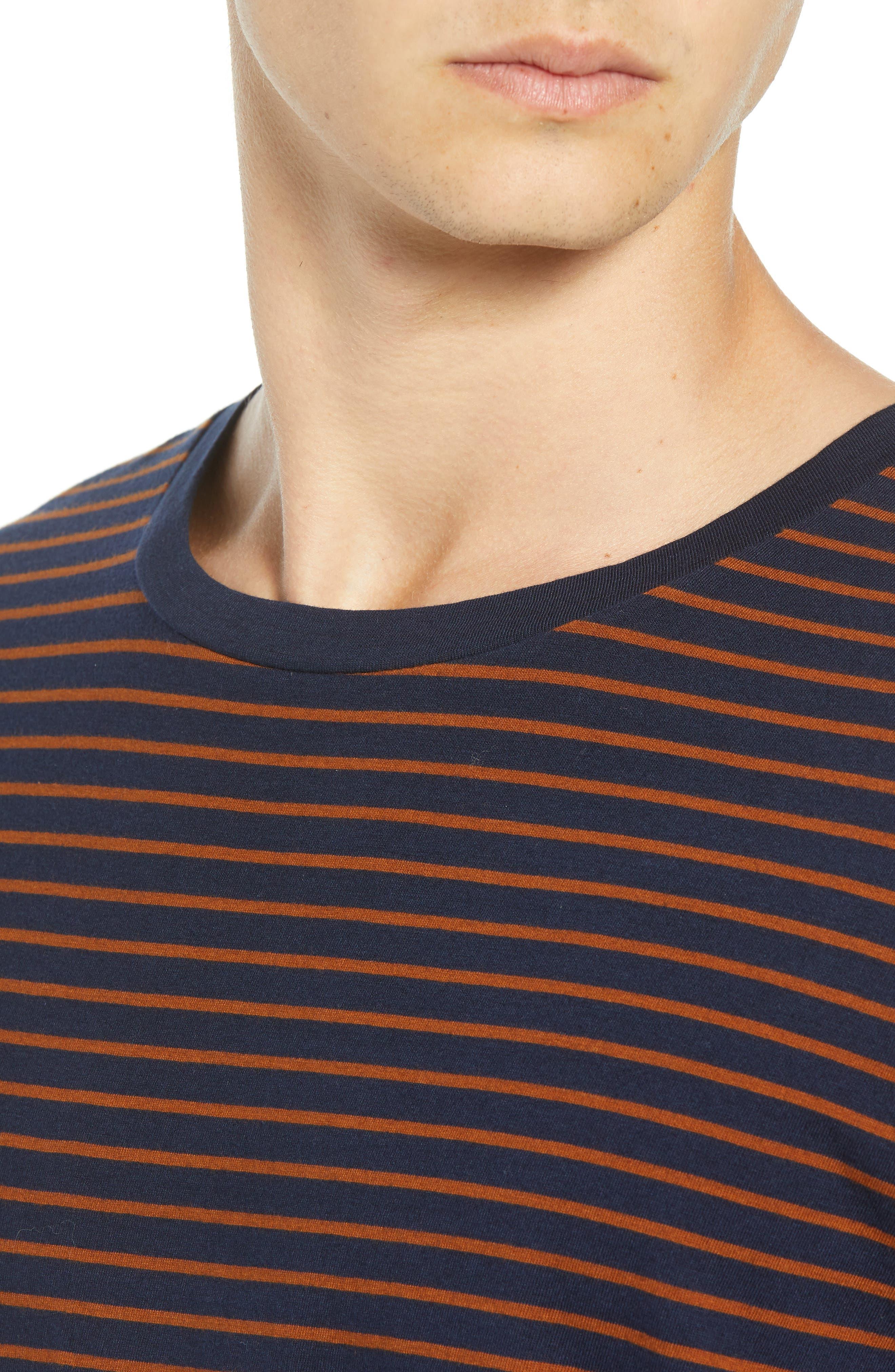 Stripe T-Shirt,                             Alternate thumbnail 4, color,                             210